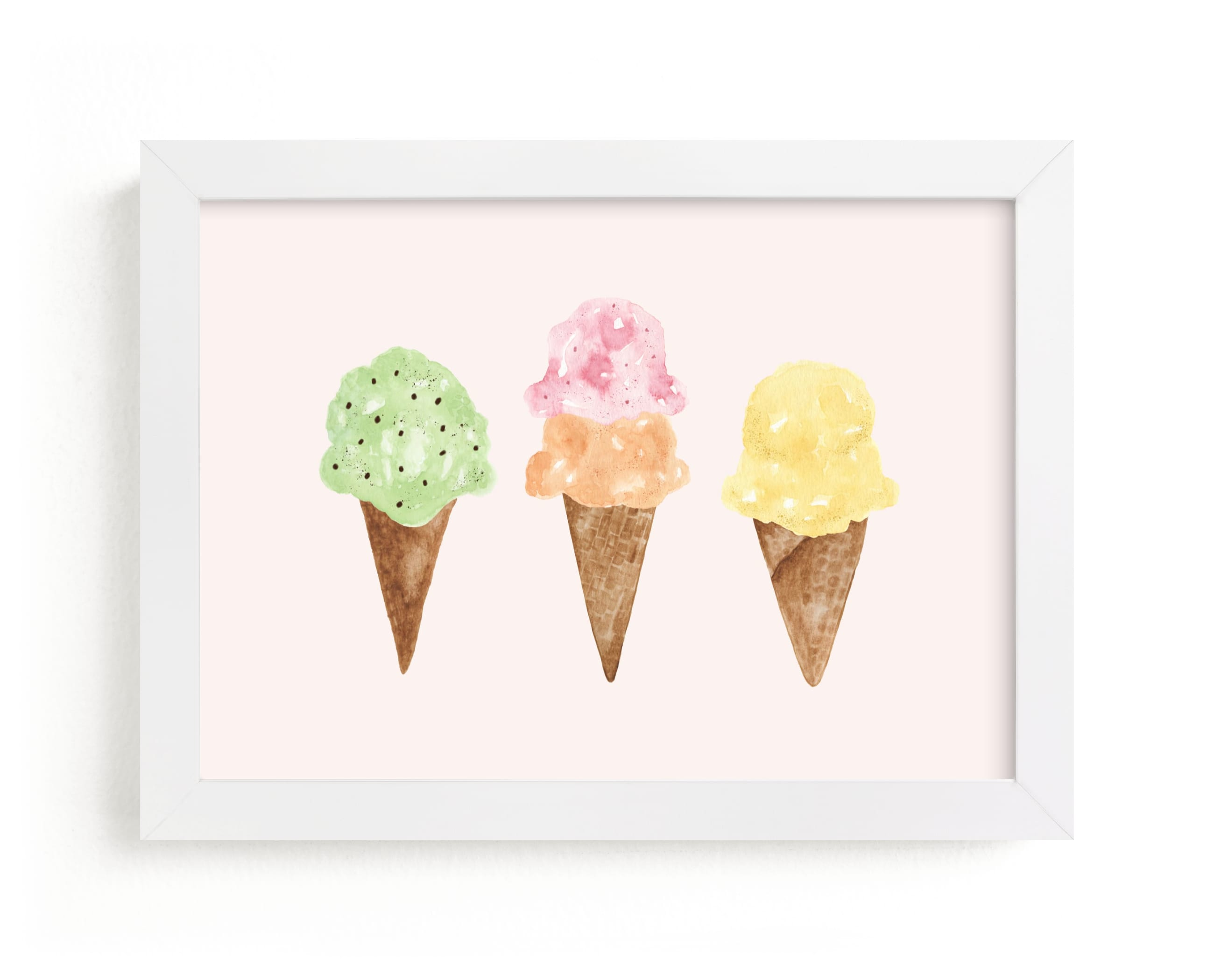"""""""Ice Cream Party"""" - Limited Edition Art Print by Beth Schneider in beautiful frame options and a variety of sizes."""