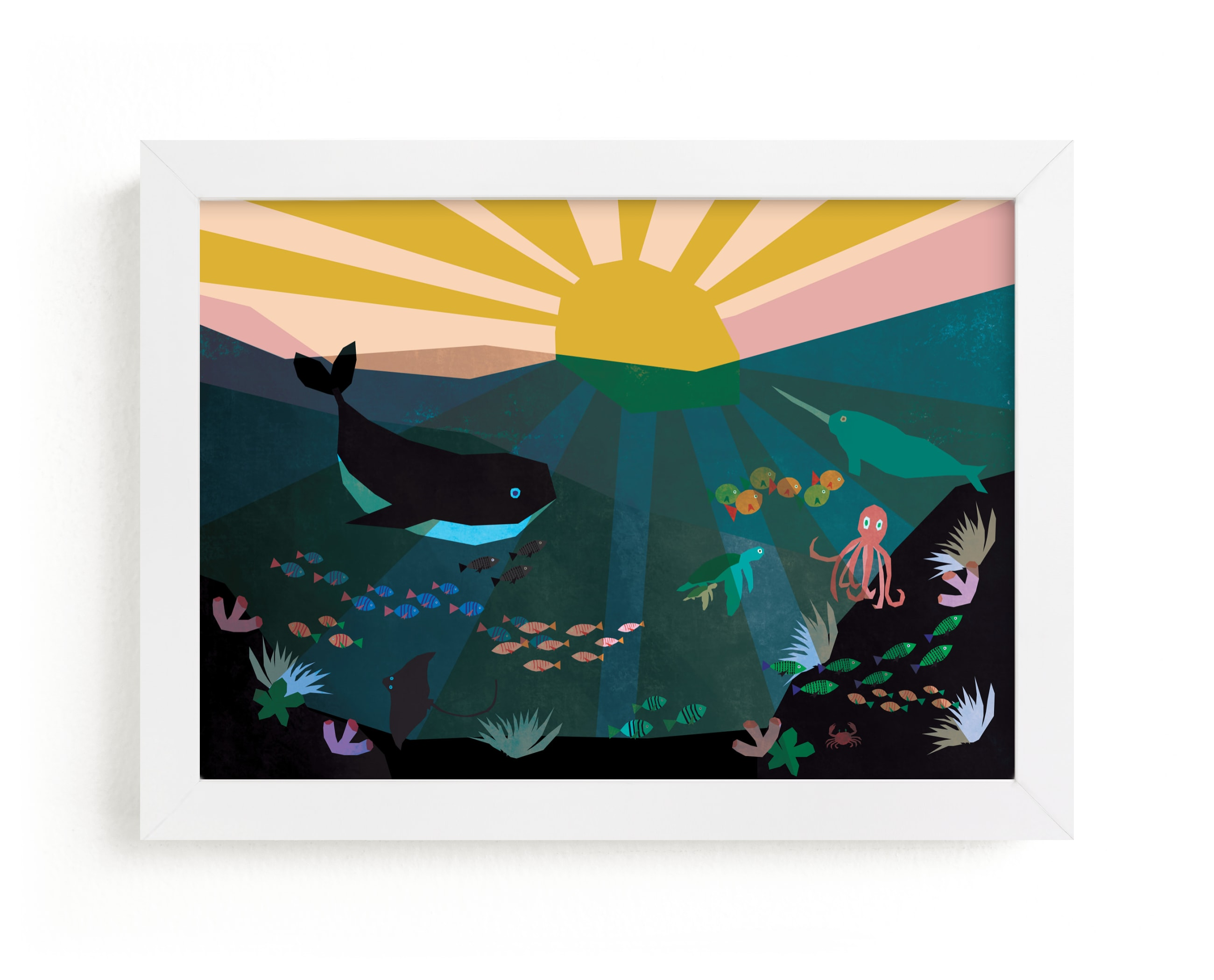 """""""Underwater Sunset"""" - Limited Edition Art Print by Morgan Kendall in beautiful frame options and a variety of sizes."""