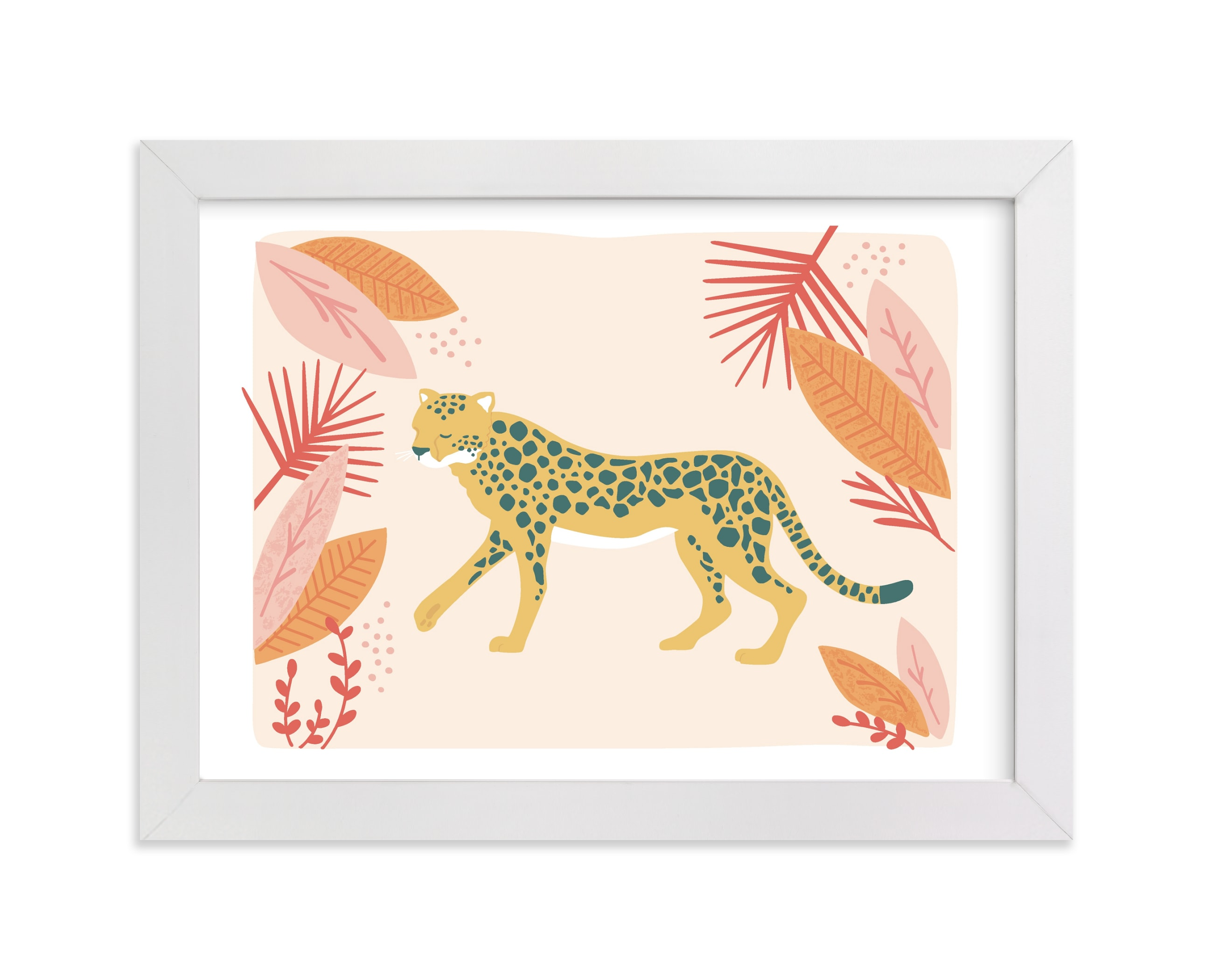 """""""speedy cheetah"""" - Limited Edition Art Print by peetie design in beautiful frame options and a variety of sizes."""