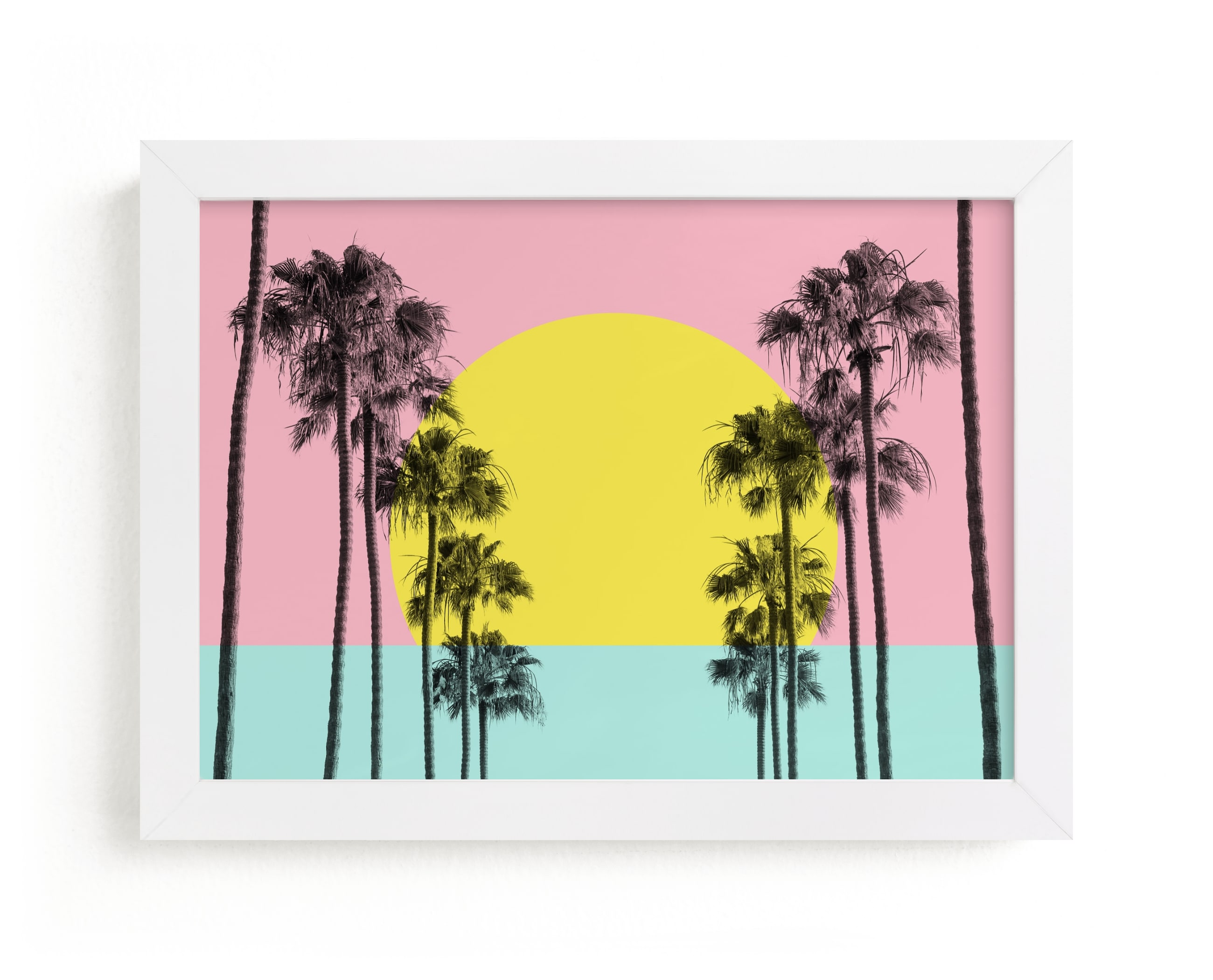"""""""Summer Palms"""" - Limited Edition Art Print by Jessica C. Nugent in beautiful frame options and a variety of sizes."""