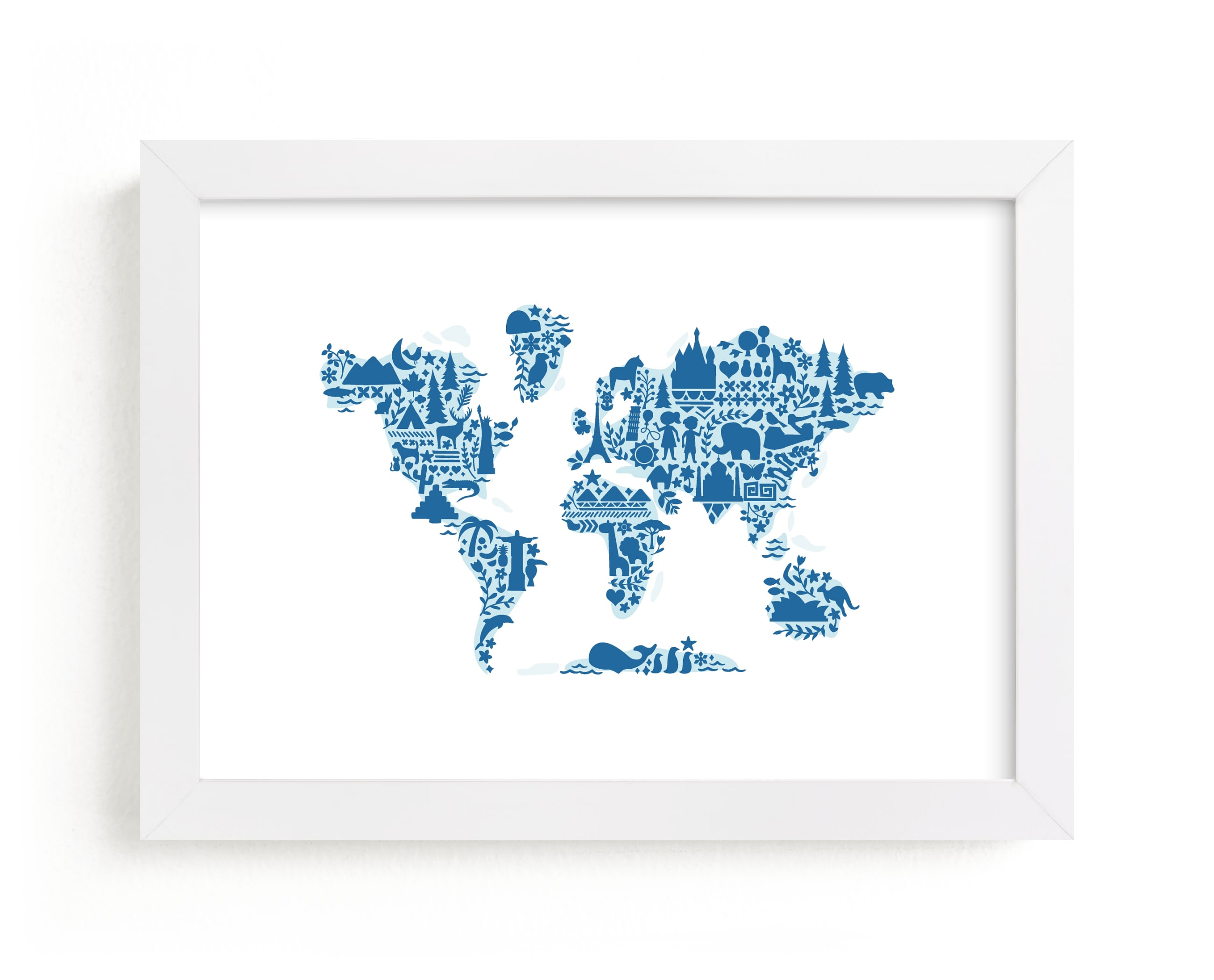 """Little Big World Map"" by Jessie Steury in beautiful frame options and a variety of sizes."