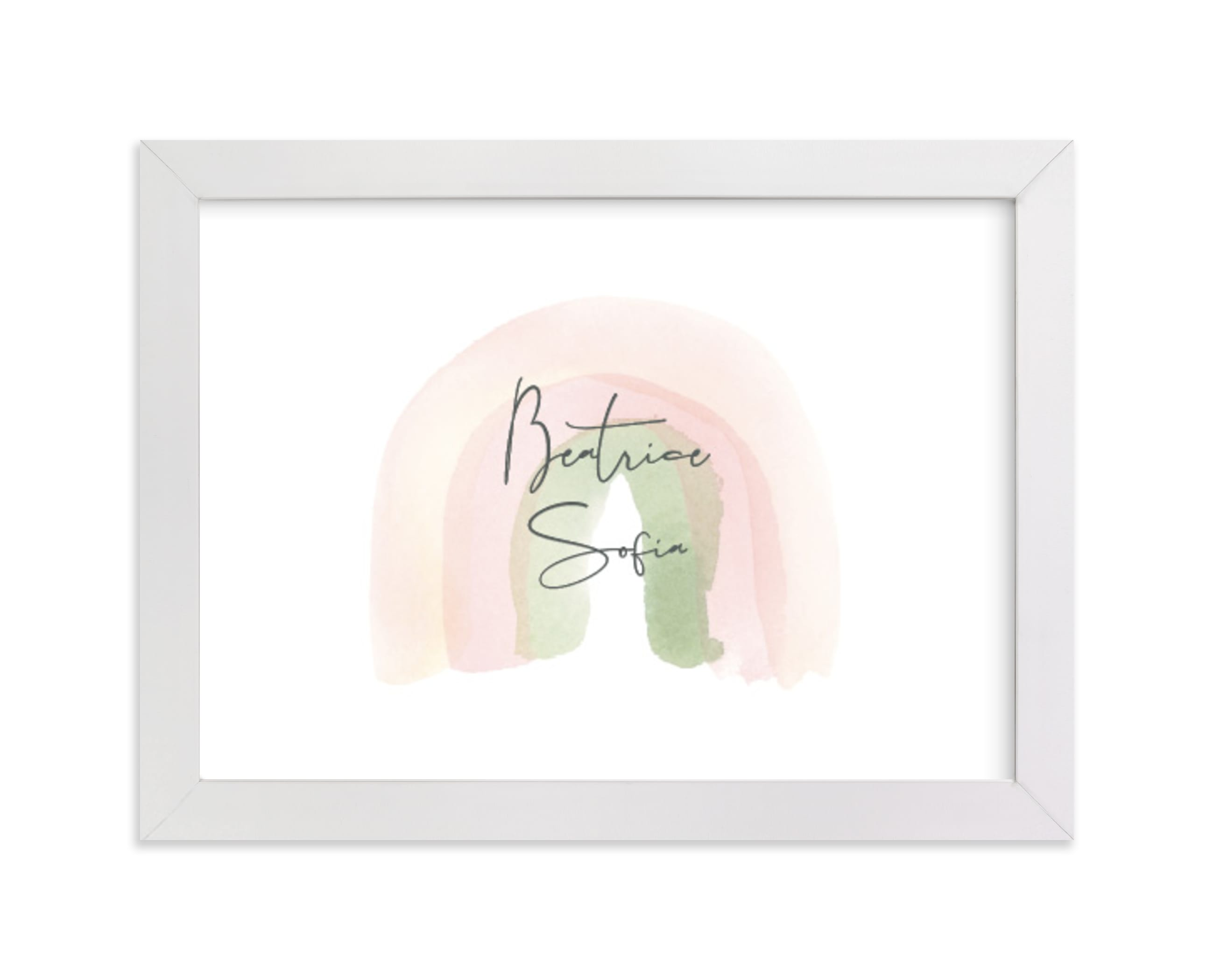 """""""Watercolor miracle"""" - Nursery Custom Art Print by Stacey Meacham in beautiful frame options and a variety of sizes."""