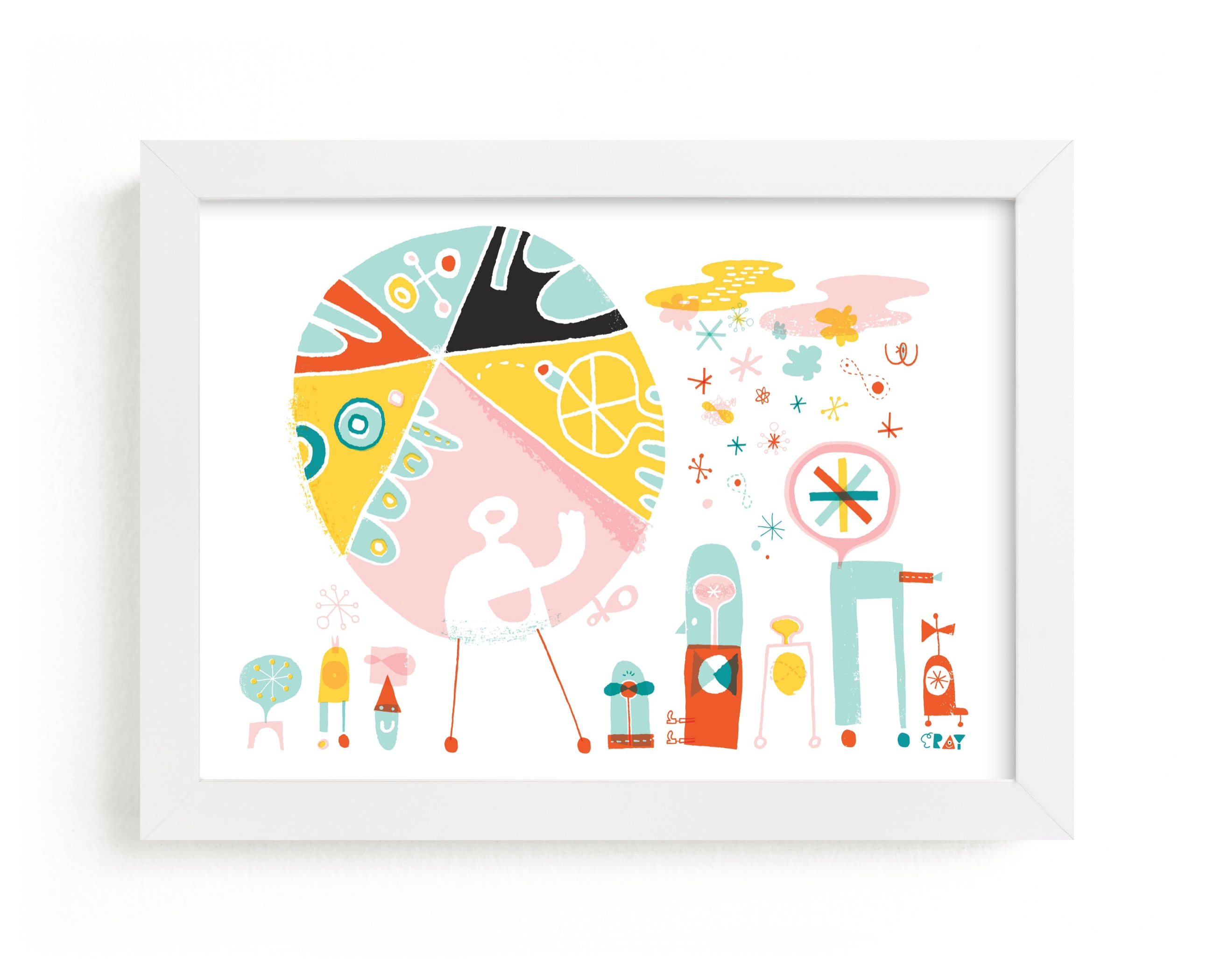 """""""Globetrotters"""" - Limited Edition Art Print by ERAY in beautiful frame options and a variety of sizes."""