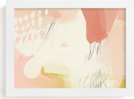 This is a yellow art by Morgan Kendall called seventy-five II.