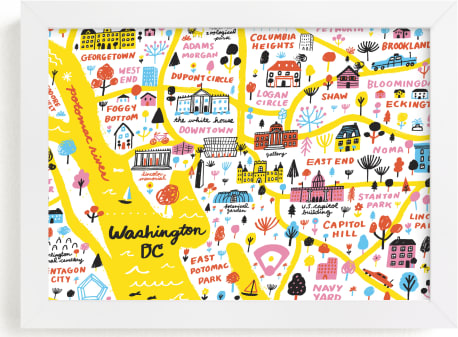 This is a colorful art by Jordan Sondler called I Love Washington D.C..