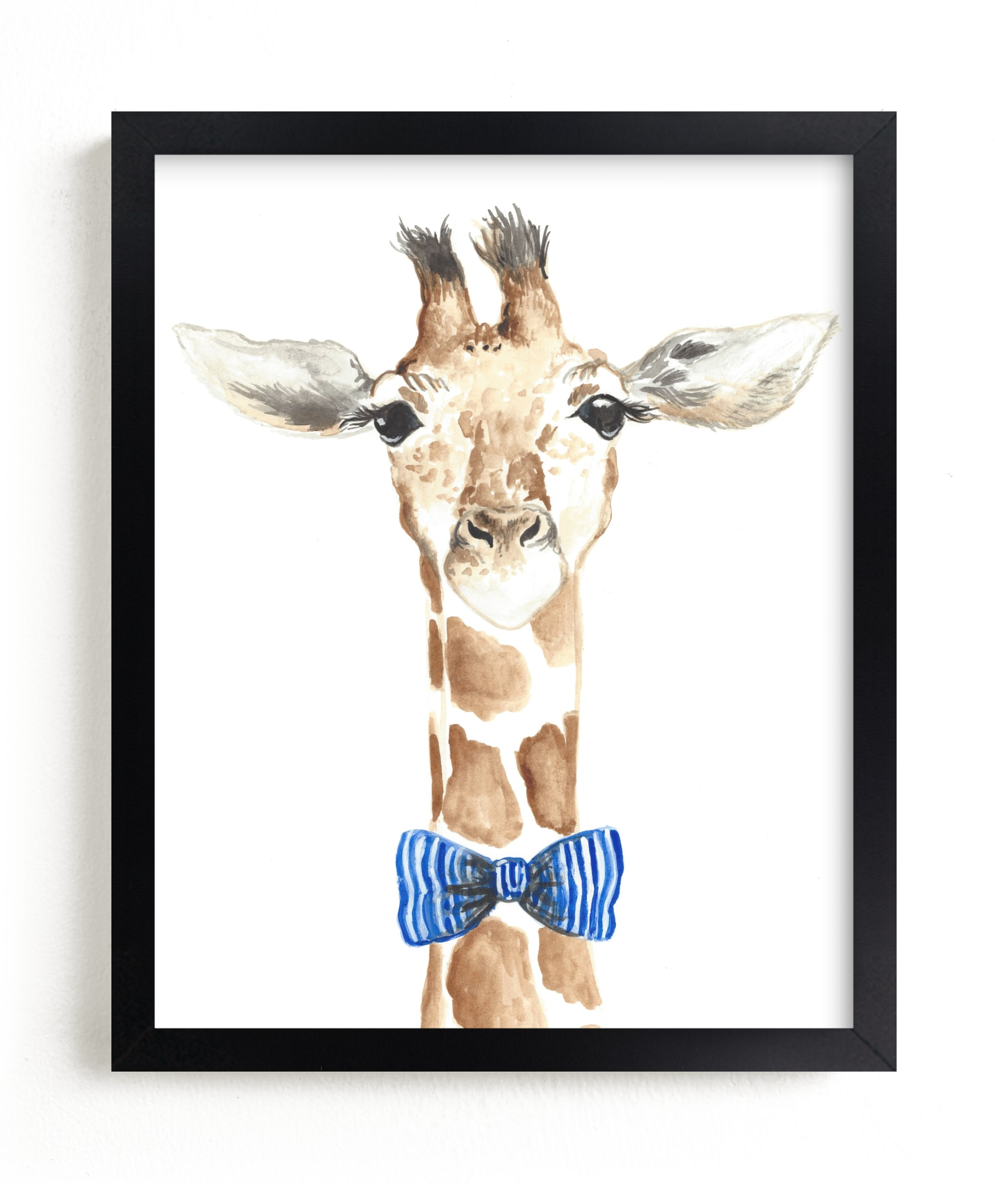 """""""Dapper Giraffe"""" - Grownup Open Edition Non-custom Art Print by Kristin Dills in beautiful frame options and a variety of sizes."""