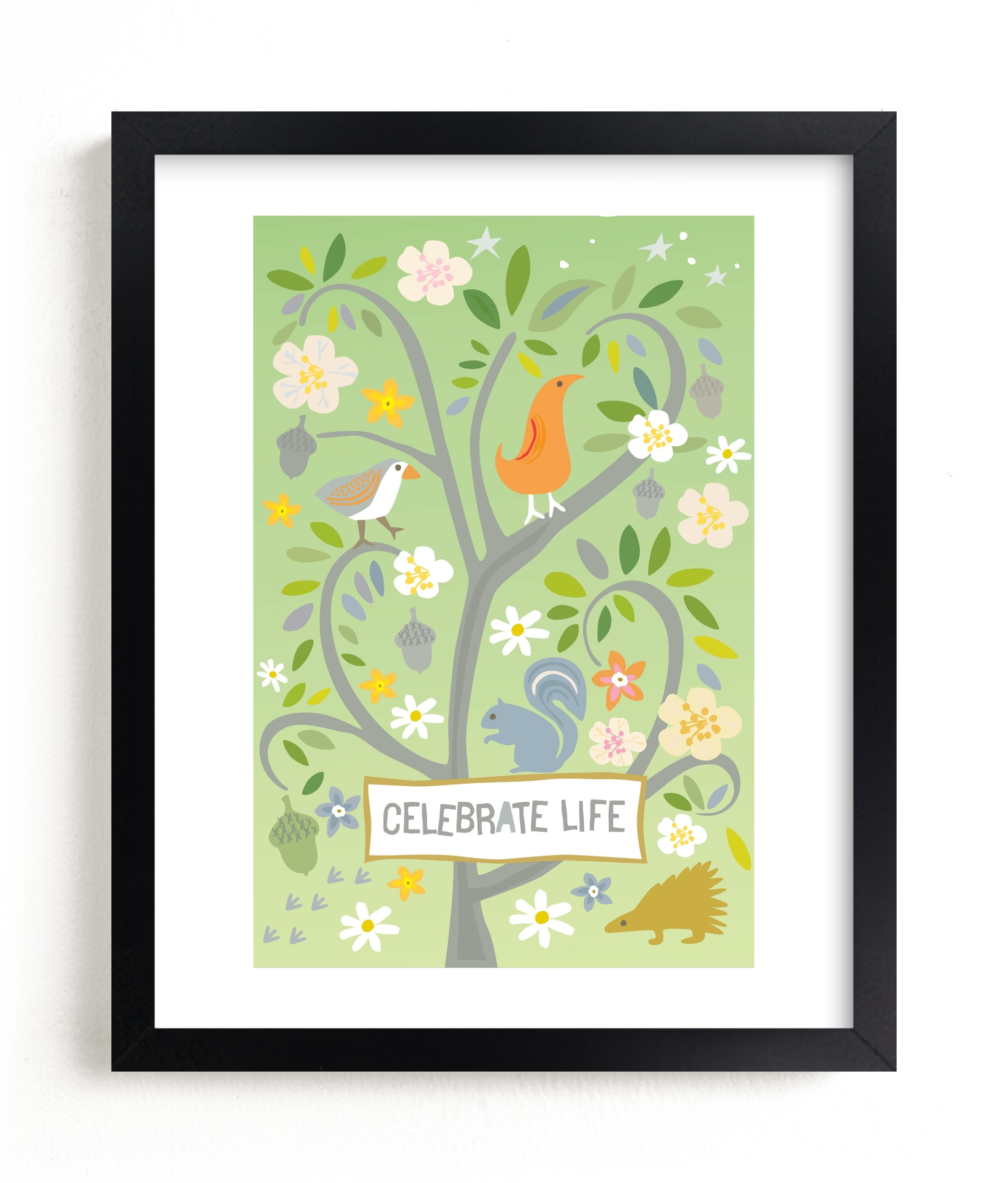 """""""Celebrate Life"""" - Limited Edition Art Print by Griffinbell Paper Co. in beautiful frame options and a variety of sizes."""