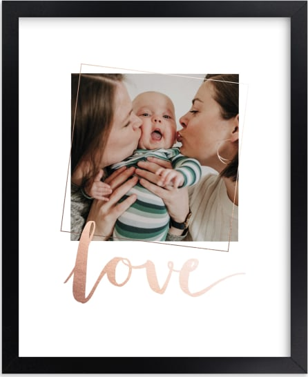 This is a rosegold foil stamped photo art by Anelle Mostert called Love You, Love.
