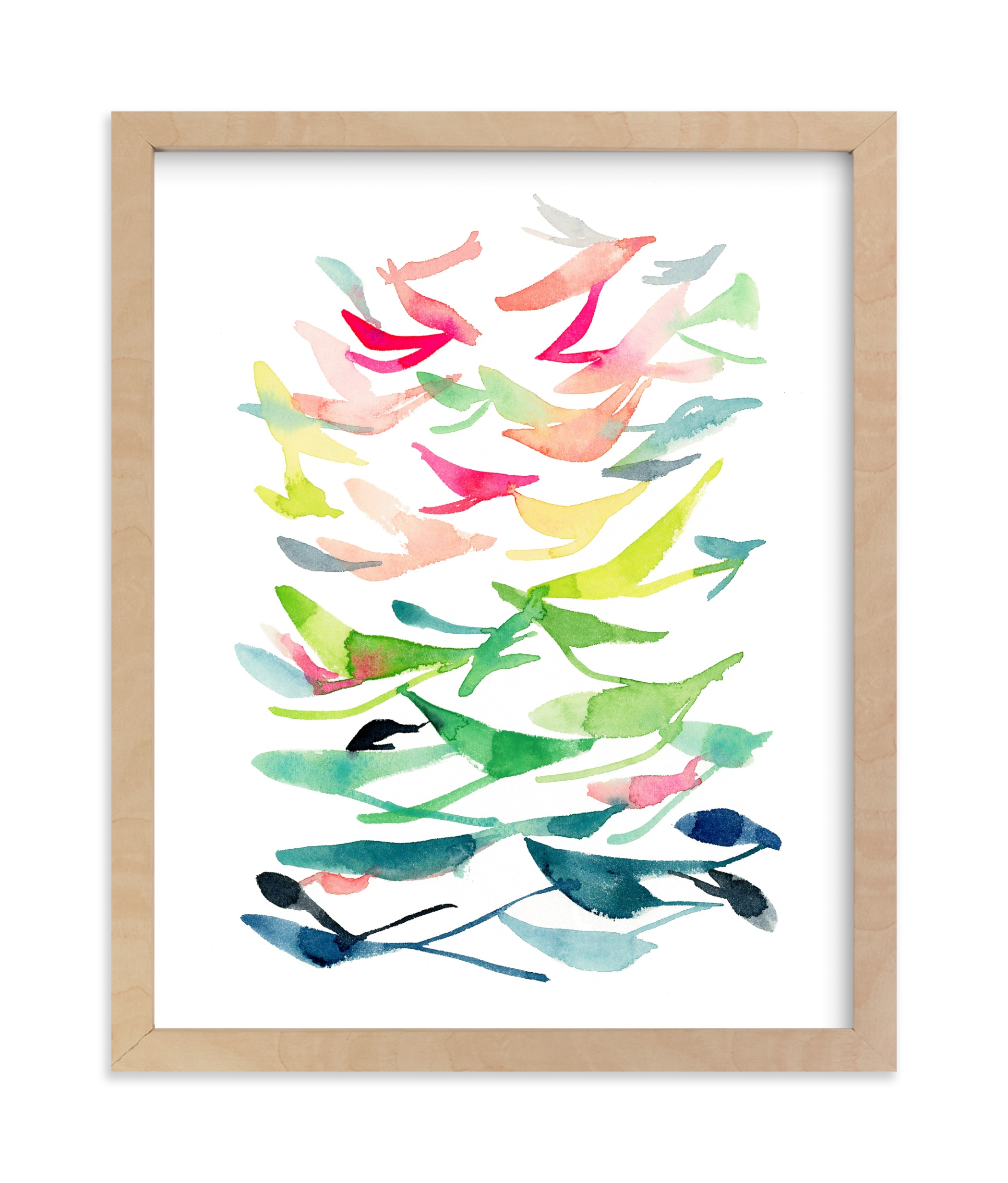 """Spring is in the Air"" - Limited Edition Art Print by Jean Choe Art and Design in beautiful frame options and a variety of sizes."