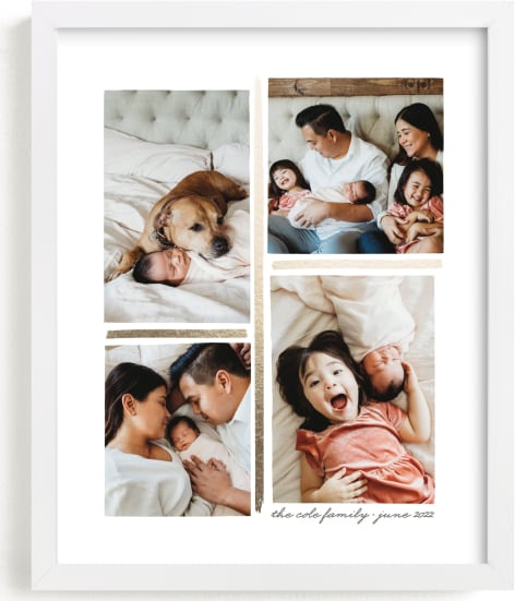 This is a gold foil stamped photo art by Hooray Creative called 4 Photo Collage.