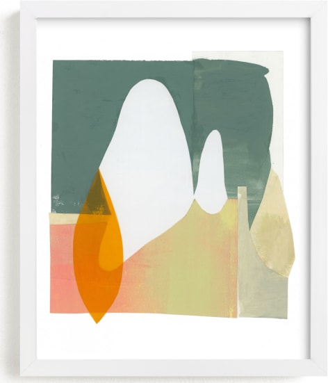 This is a white art by Erin McCluskey Wheeler called Things unsaid 2.