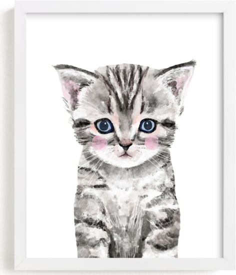 This is a grey art by Cass Loh called Baby Kitten.