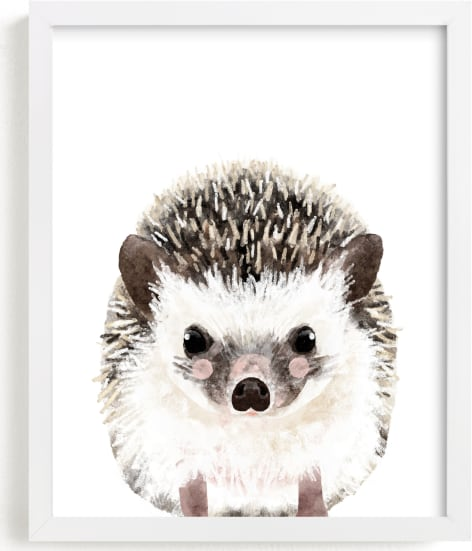 This is a brown art by Cass Loh called Baby Hedgehog.