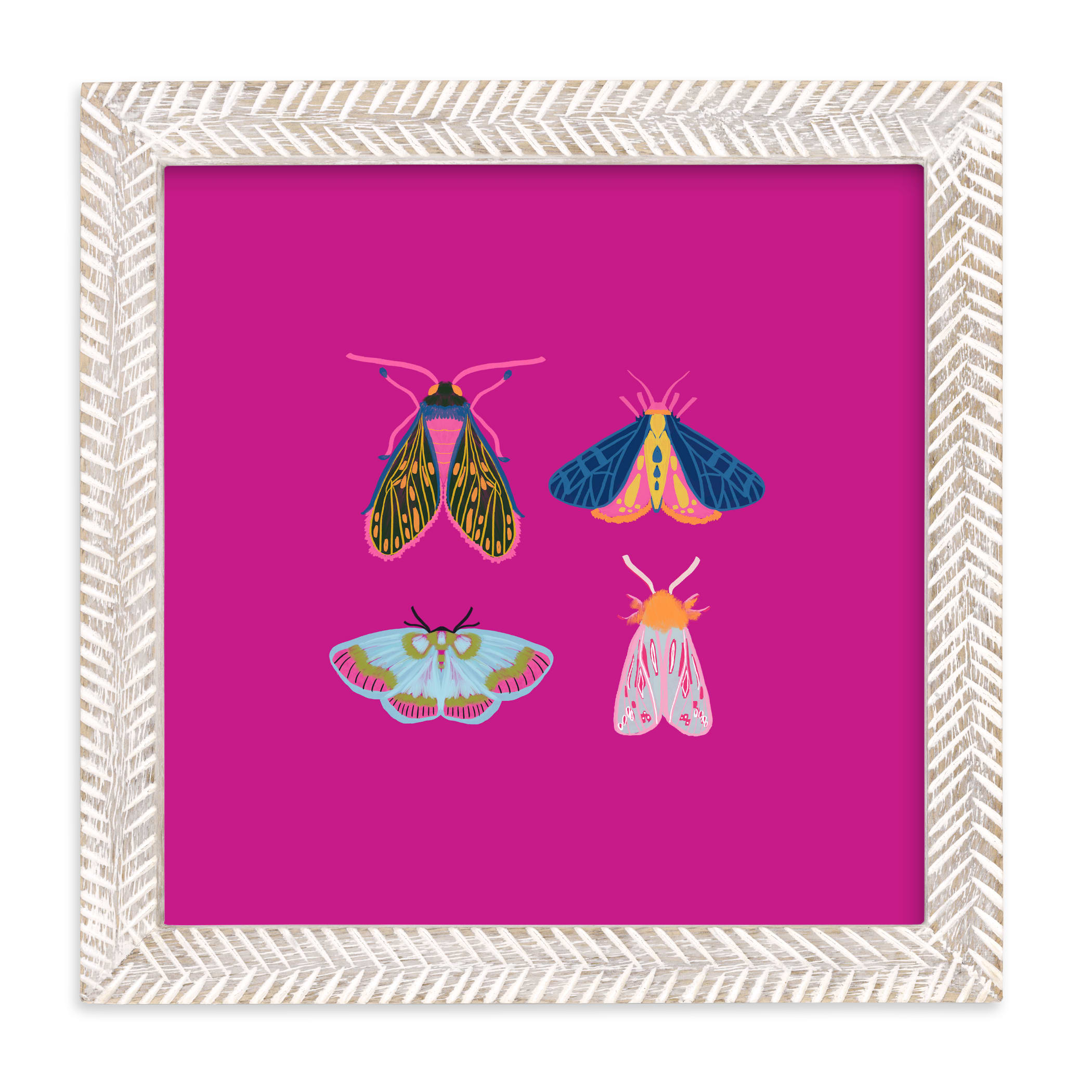 """Boho Bugs"" - Limited Edition Art Print by Britt Mills in beautiful frame options and a variety of sizes."