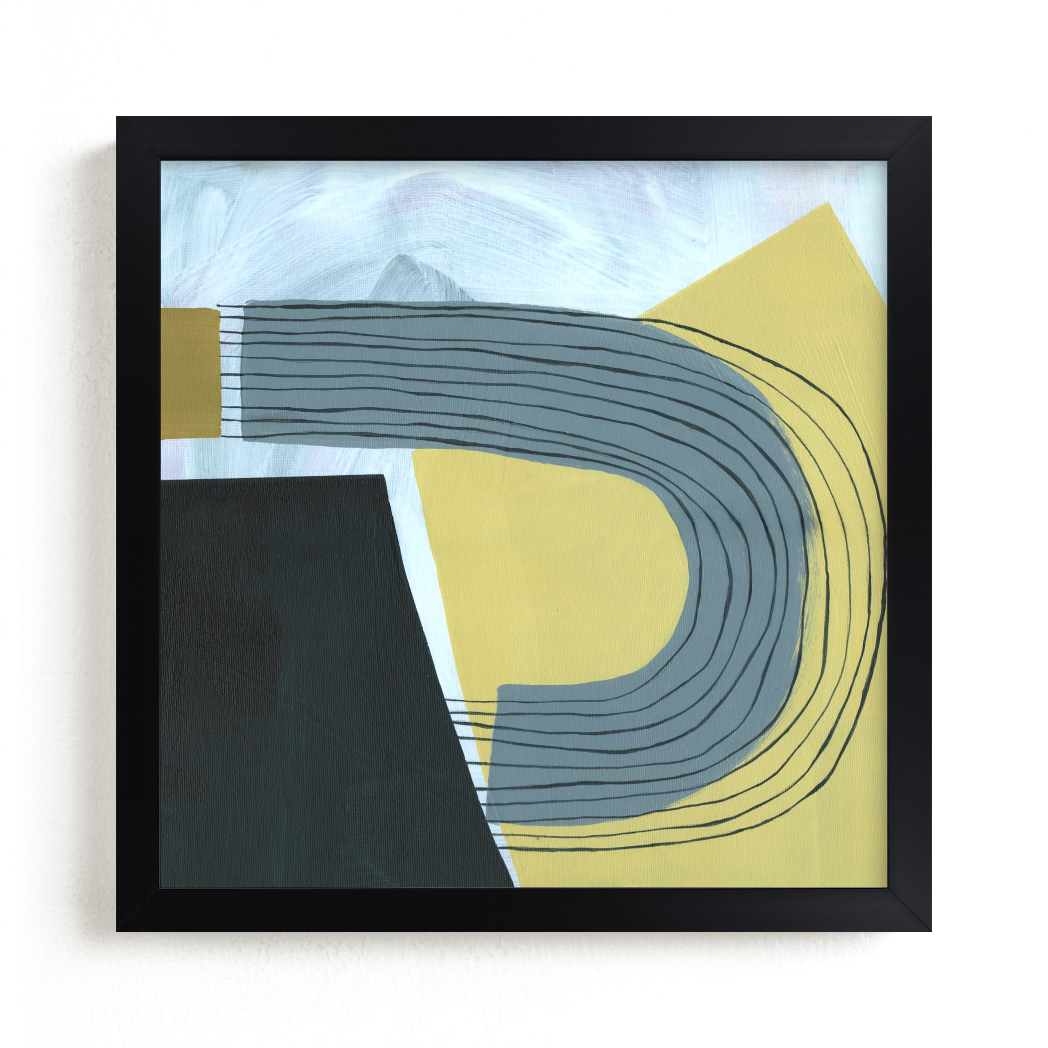 """""""Yellow Ochre"""" - Limited Edition Art Print by Kirsta Benedetti in beautiful frame options and a variety of sizes."""