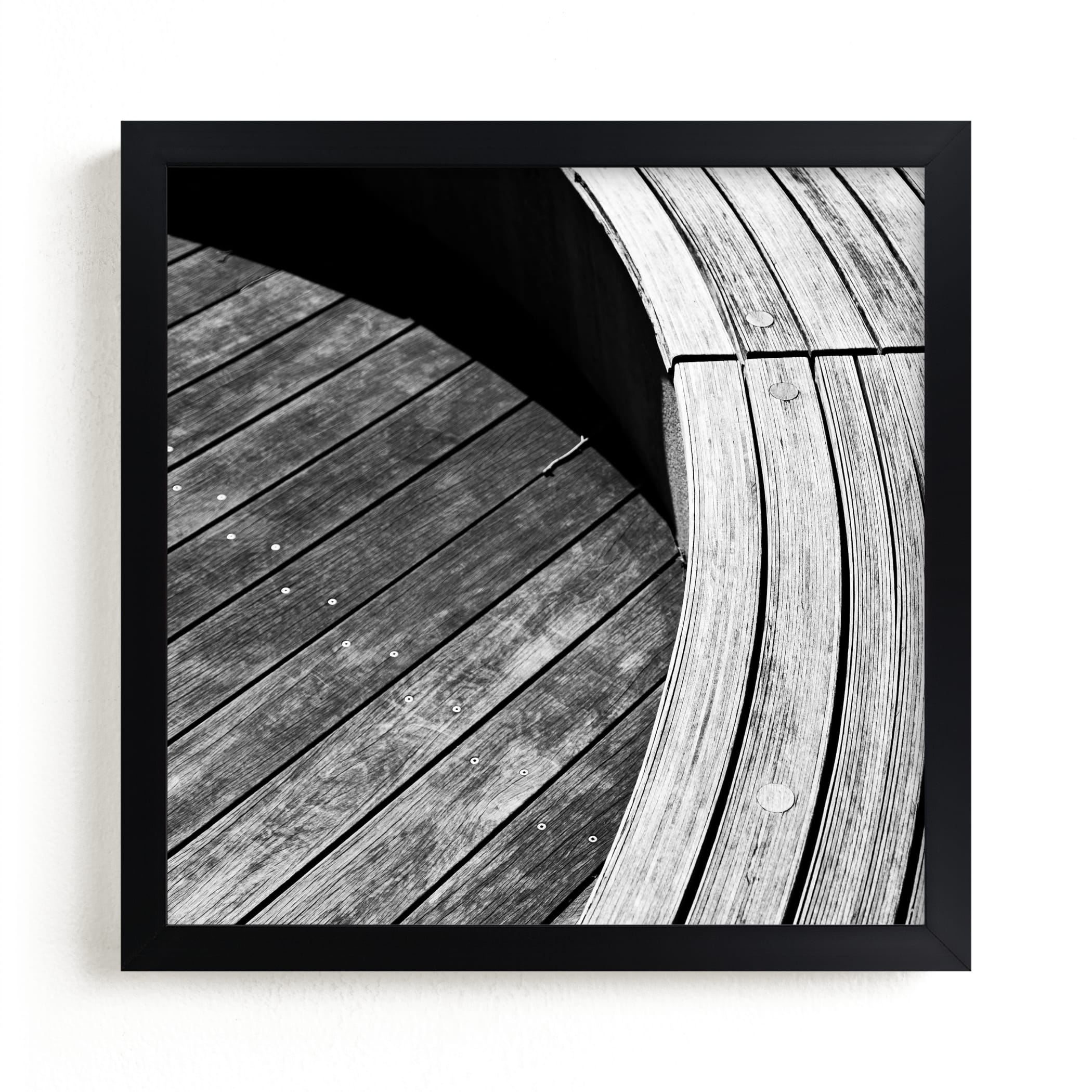 """""""Curve Bench Geometric IIII"""" - Limited Edition Art Print by Van Tsao in beautiful frame options and a variety of sizes."""
