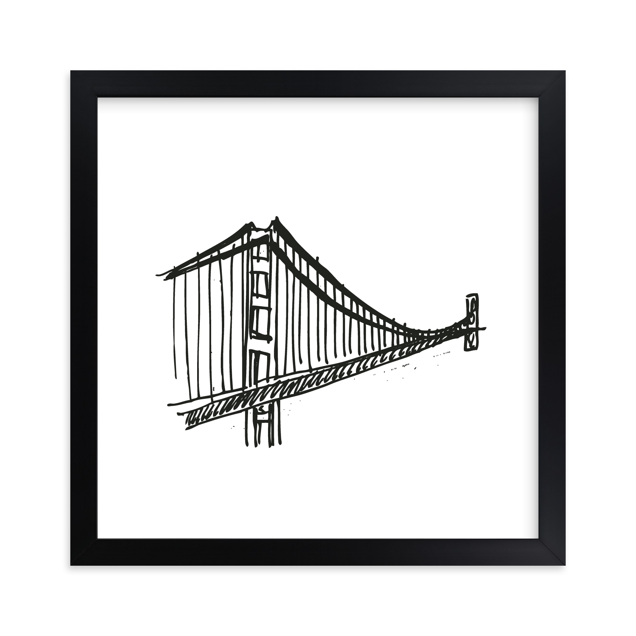 """Gracious Golden Gate Bridge"" - Limited Edition Art Print by Phrosne Ras in beautiful frame options and a variety of sizes."
