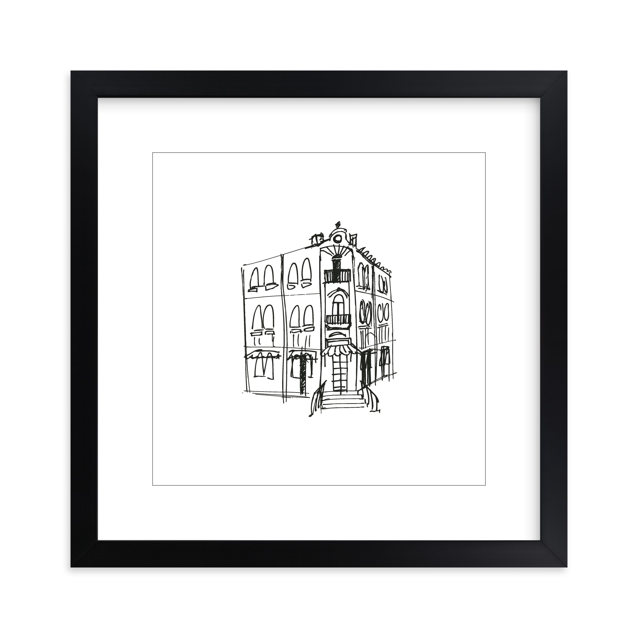 """Paris Street Shop 3"" - Limited Edition Art Print by Phrosne Ras in beautiful frame options and a variety of sizes."