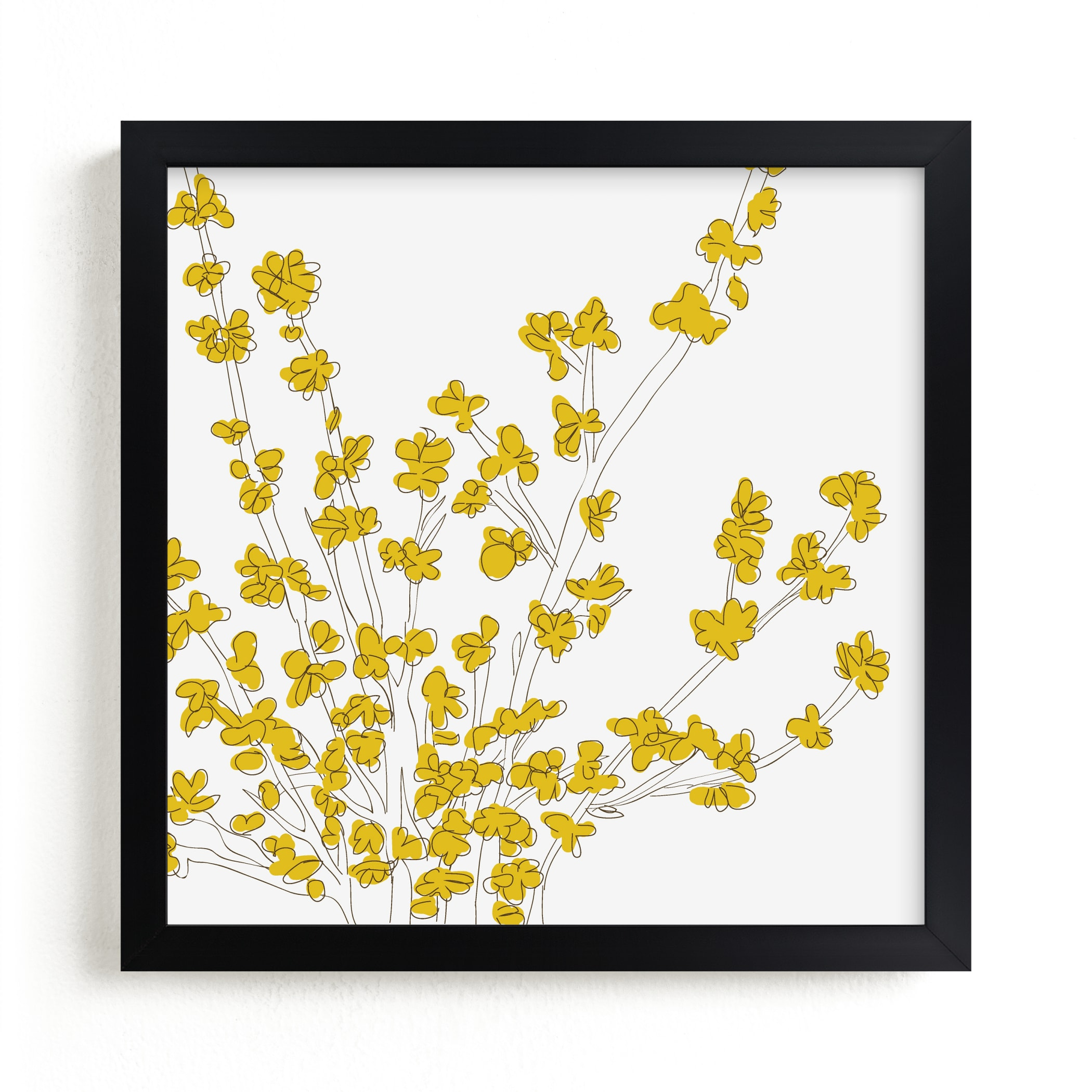 """""""Forsythia"""" - Limited Edition Art Print by Vanessa Wyler in beautiful frame options and a variety of sizes."""