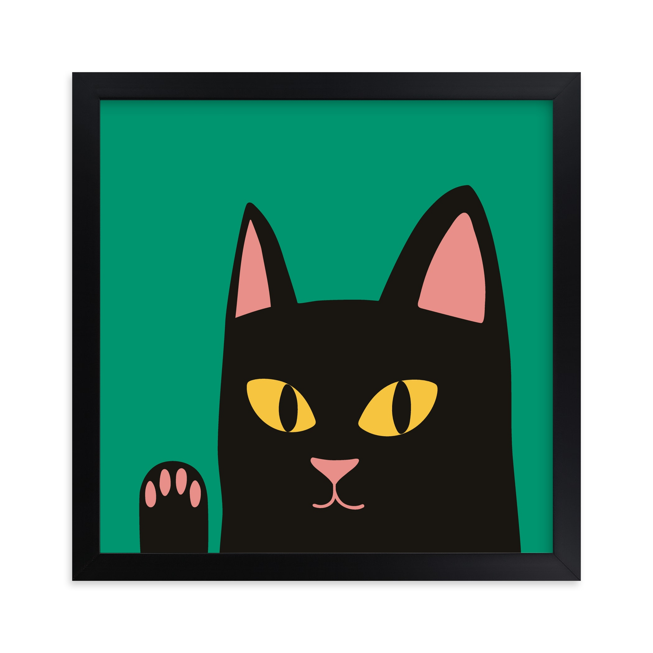 """""""Max the Cat"""" - Limited Edition Art Print by Nieves Herranz in beautiful frame options and a variety of sizes."""