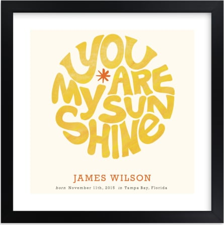 This is a yellow nursery wall art by Carrie ONeal called Forever Sunshine.