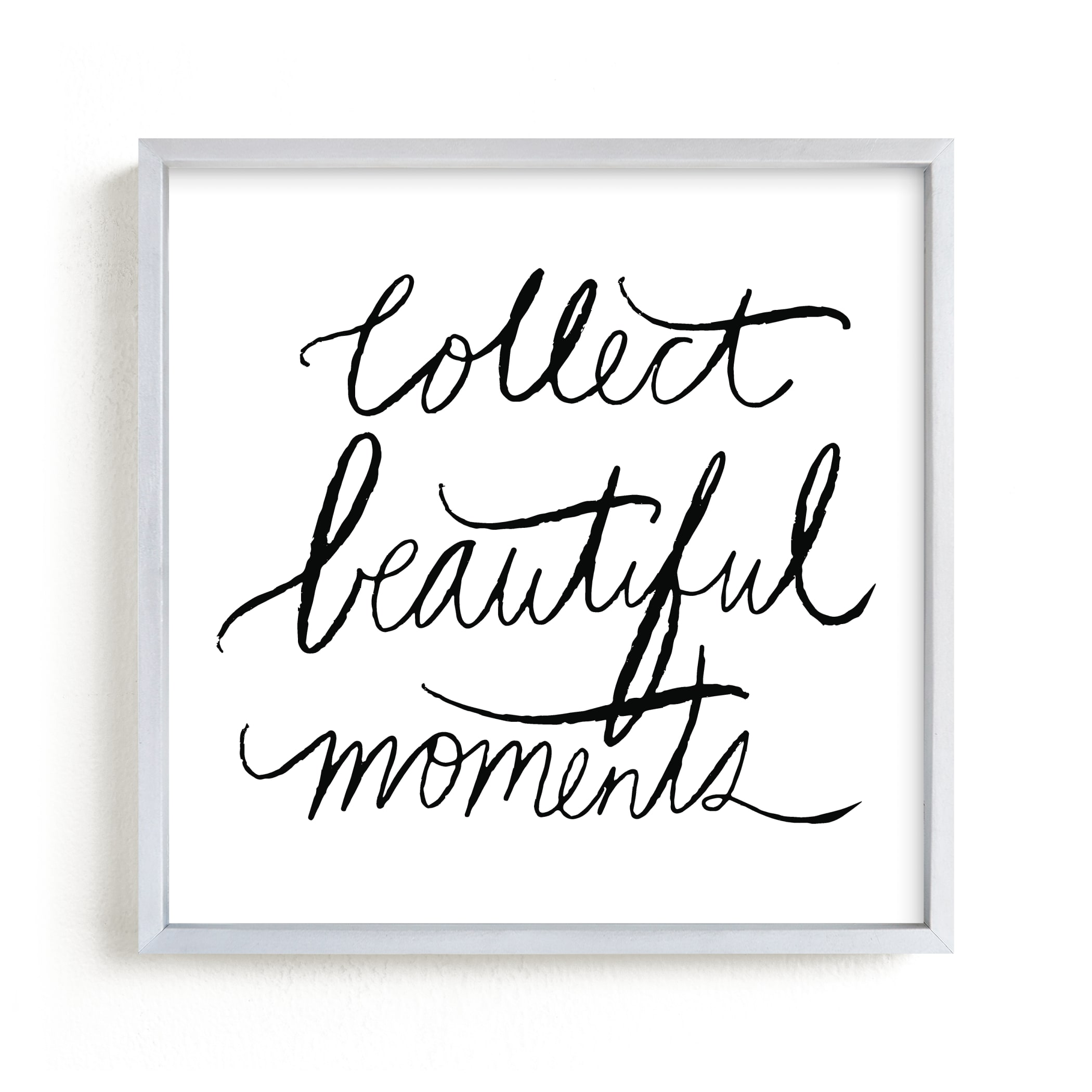 """collect beautiful moments"" - Limited Edition Art Print by Vivian Yiwing in beautiful frame options and a variety of sizes."