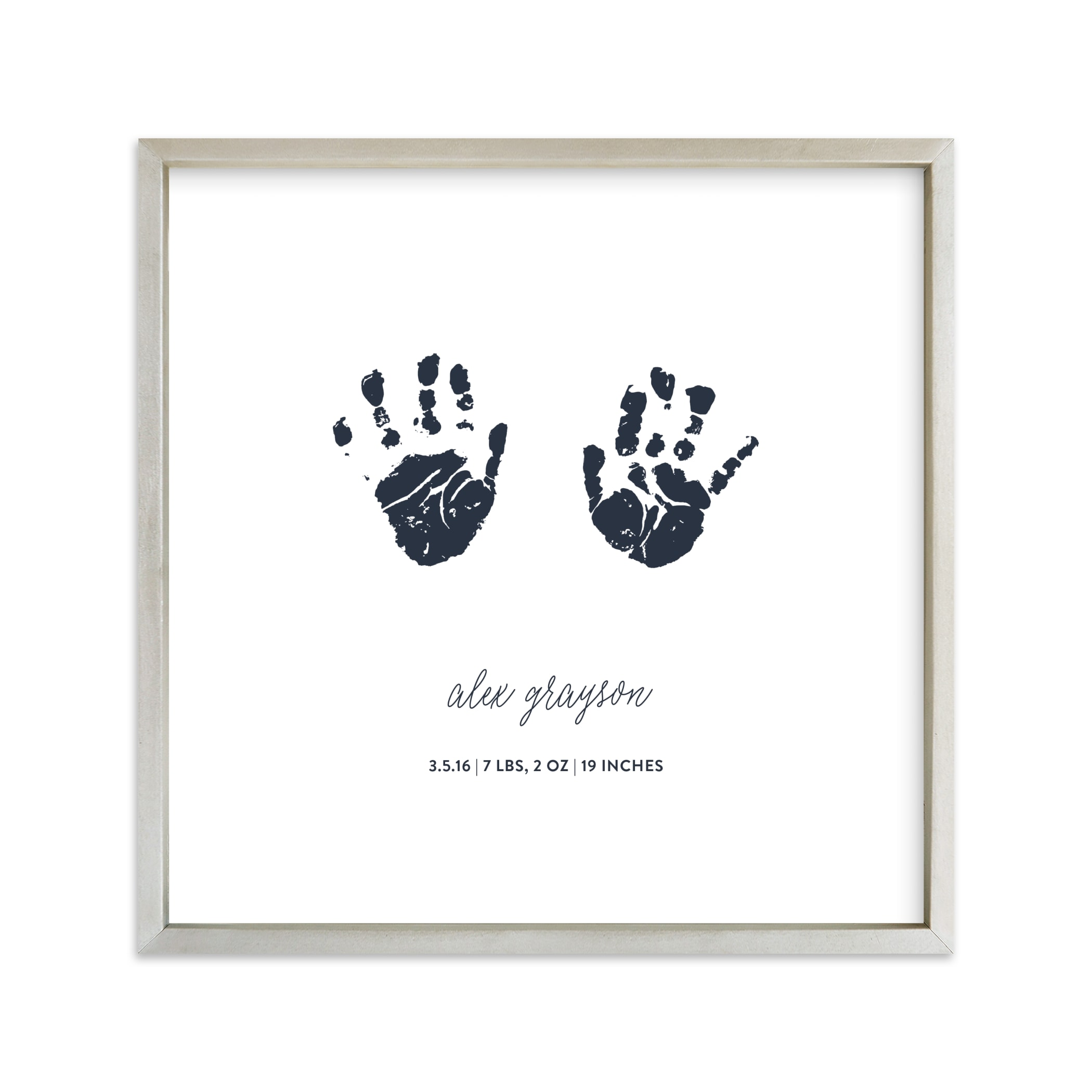 Custom Handprints as Art Your Drawing As Art Print