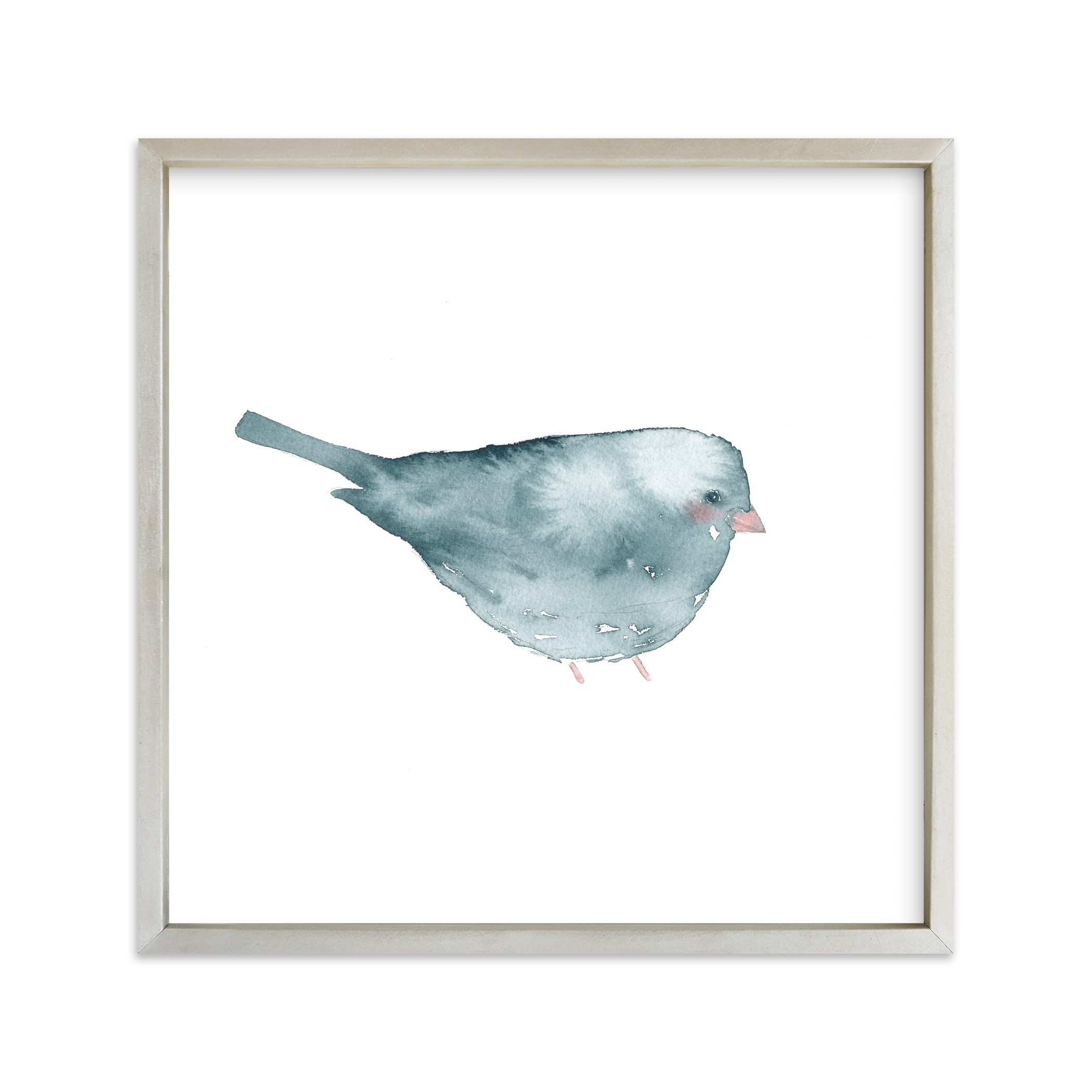 """""""Blushing Bird 2"""" - Limited Edition Art Print by Renee Anne Bouffard-McManus in beautiful frame options and a variety of sizes."""