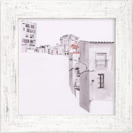 This is a black and white art by Viktoria Eperjesi called Sicily.