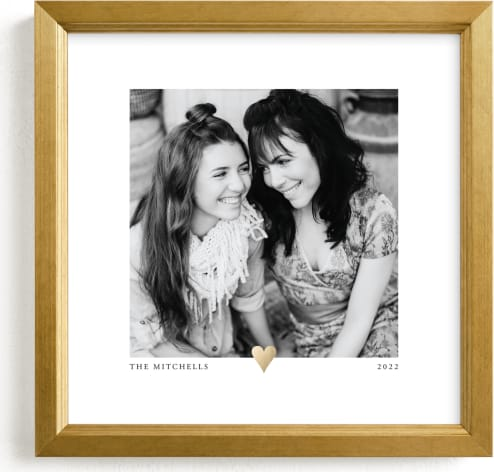 This is a gold foil stamped photo art by Laura Hamm called With a Heart Foil.