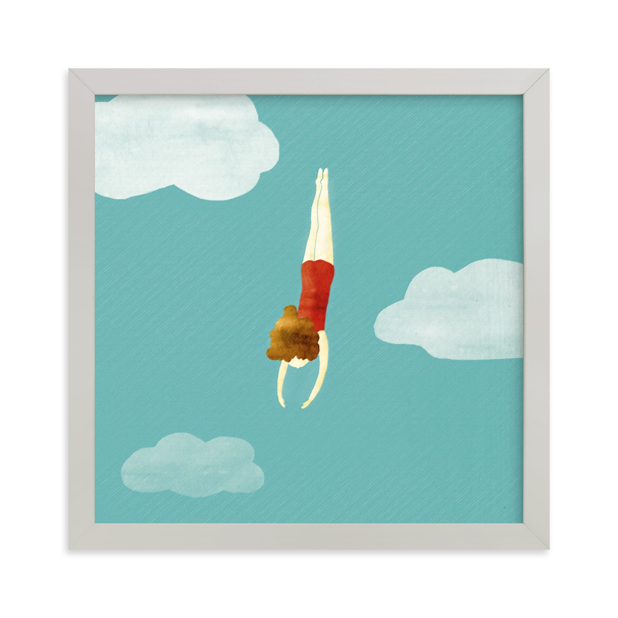"""""""swimmer"""" - Limited Edition Art Print by Maria Gromek in beautiful frame options and a variety of sizes."""