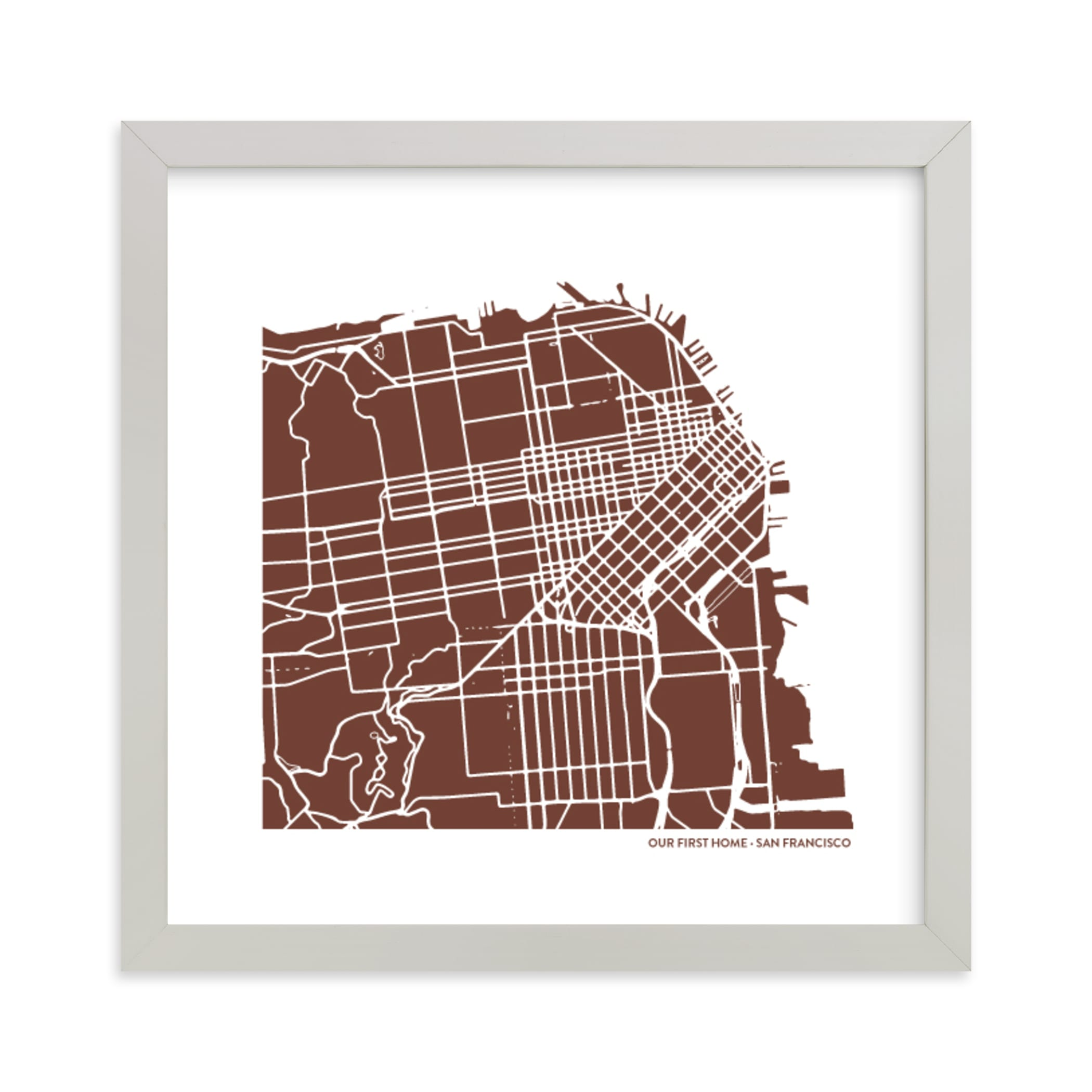 """""""Custom Filled Map Art"""" - Map Digital Art by Minted in beautiful frame options and a variety of sizes."""