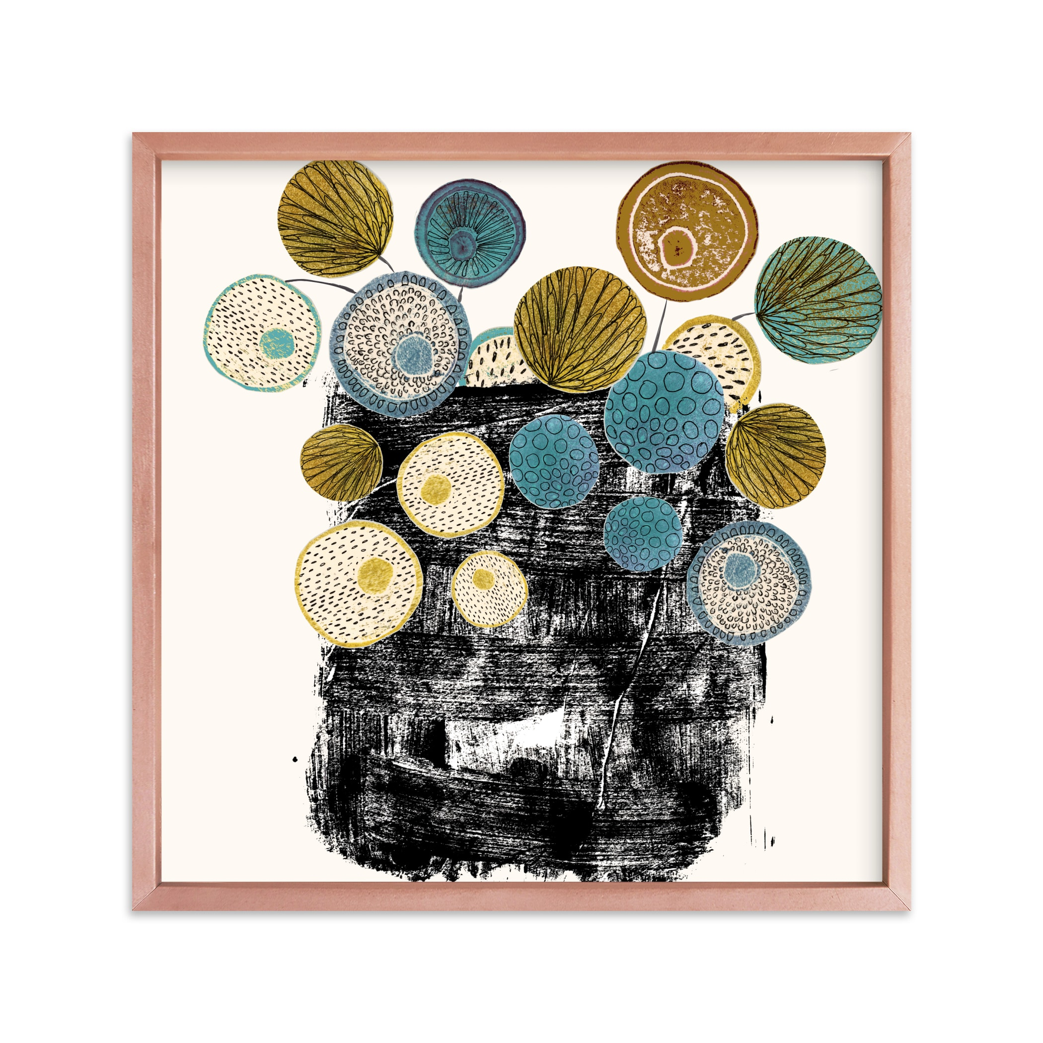"""""""Graphic floral arrangement"""" - Limited Edition Art Print by Bethania Lima in beautiful frame options and a variety of sizes."""