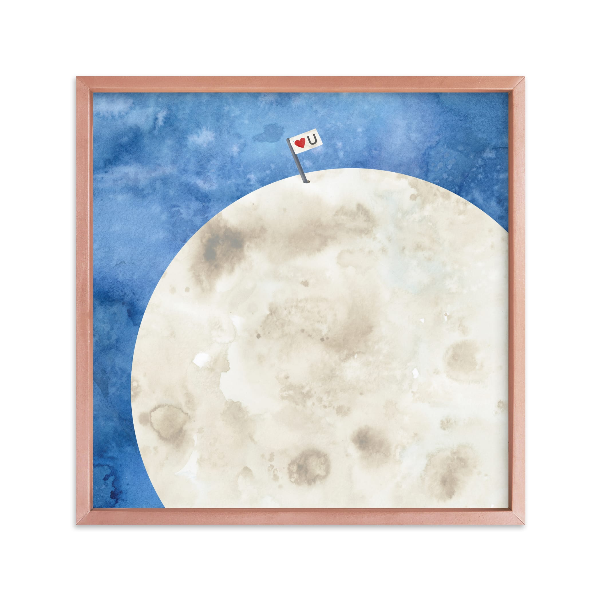 """""""Moon And Back"""" - Limited Edition Art Print by Lindsay Megahed in beautiful frame options and a variety of sizes."""