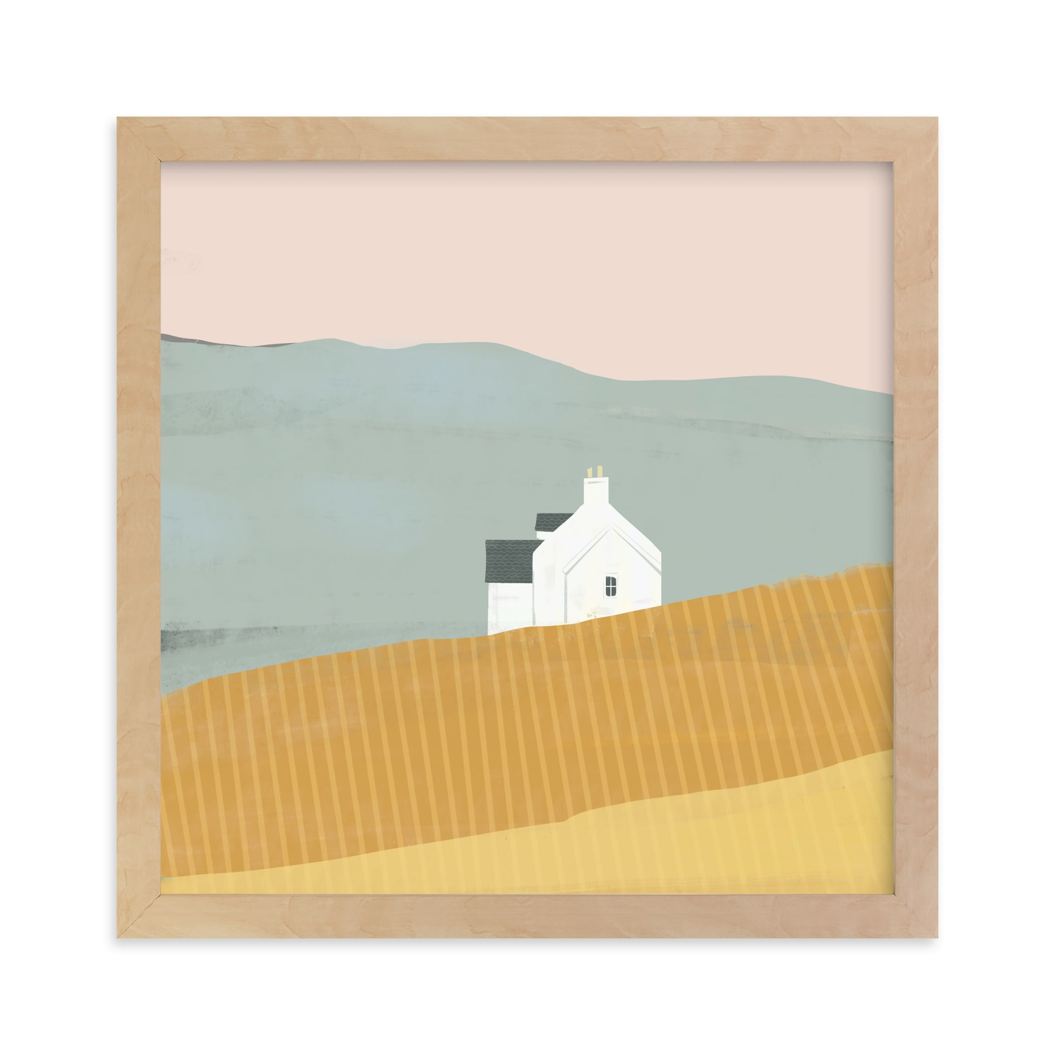 """""""Little White House on Prairie"""" - Limited Edition Art Print by Laura Mitchell in beautiful frame options and a variety of sizes."""