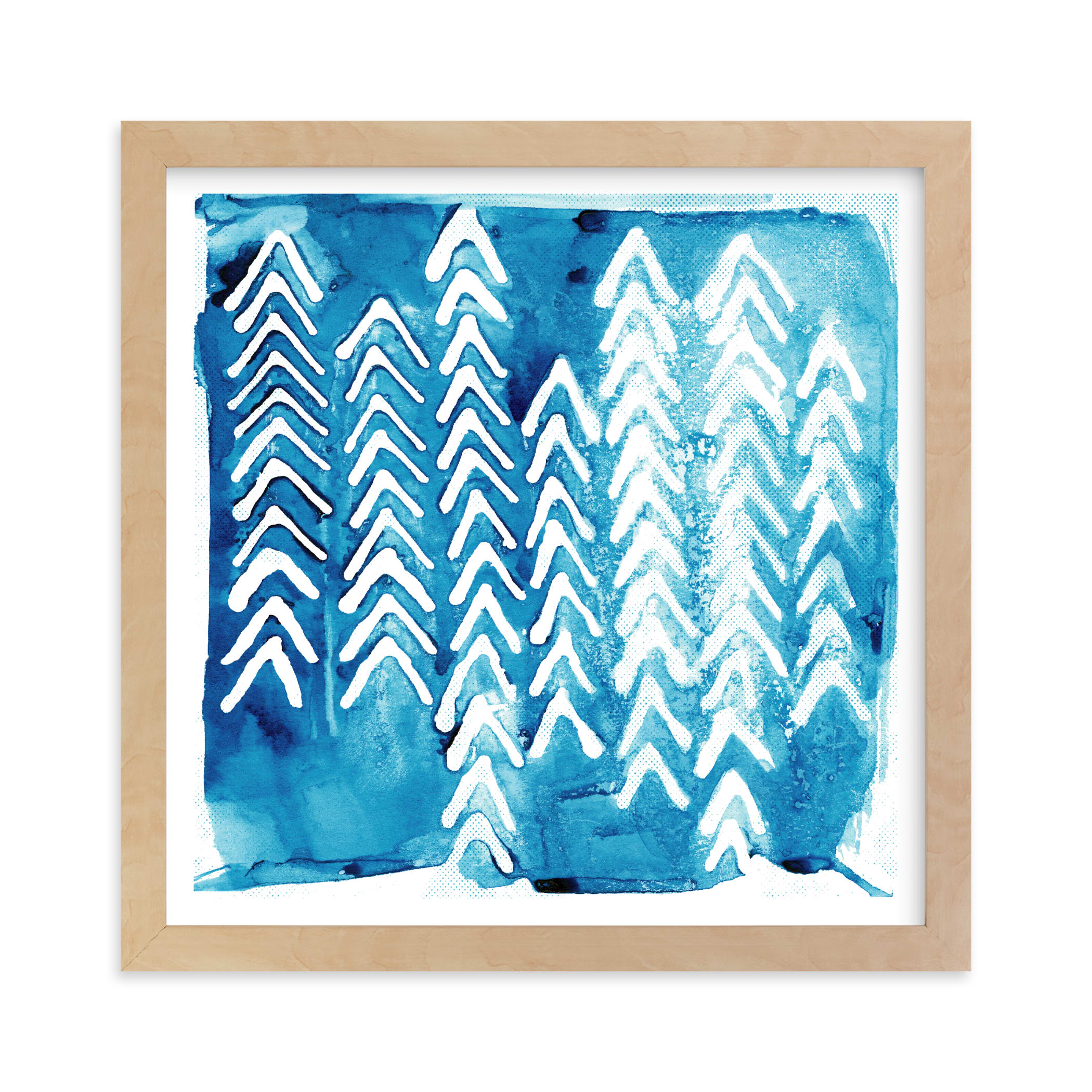 """""""Northern Flow 2"""" - Limited Edition Art Print by Paper Dahlia in beautiful frame options and a variety of sizes."""