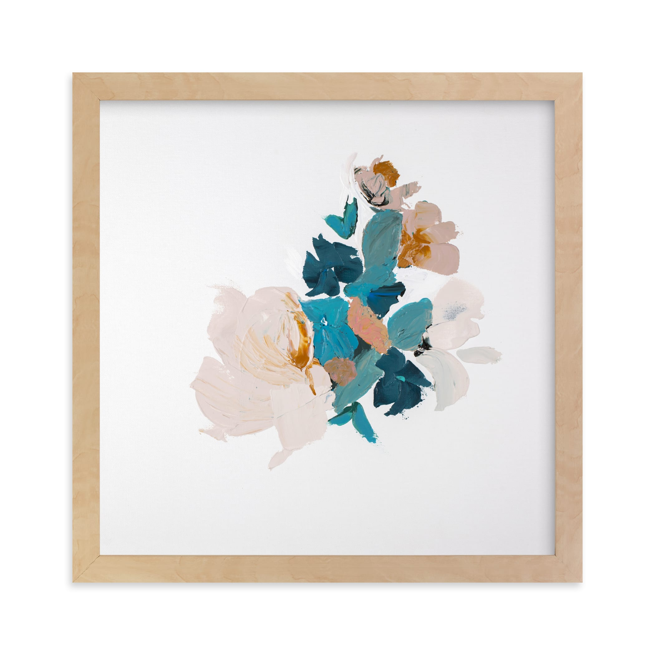 """""""Botanical Series Turquoise"""" - Limited Edition Art Print by Caryn Owen in beautiful frame options and a variety of sizes."""