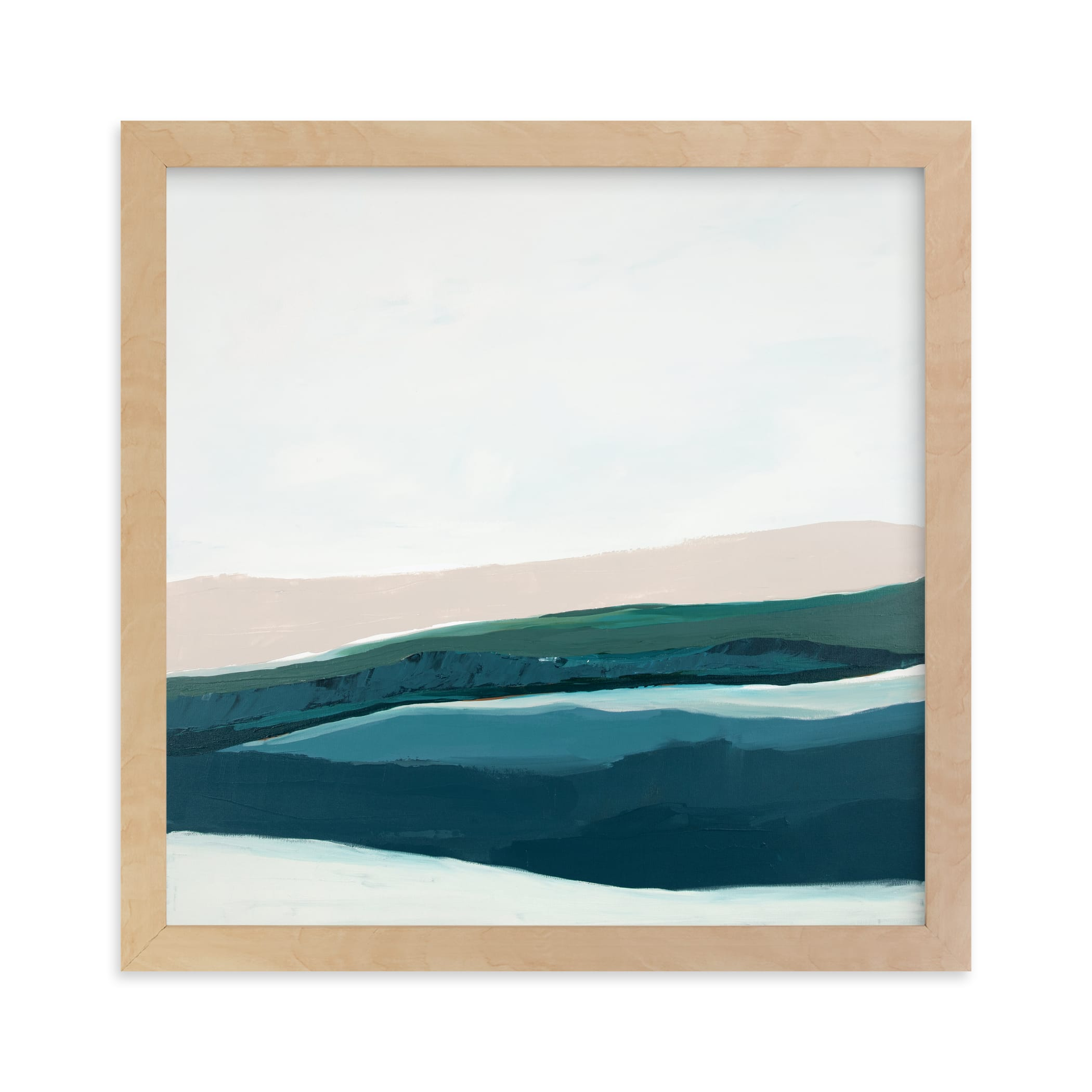 """Seascape at Dusk"" - Limited Edition Art Print by Caryn Owen in beautiful frame options and a variety of sizes."