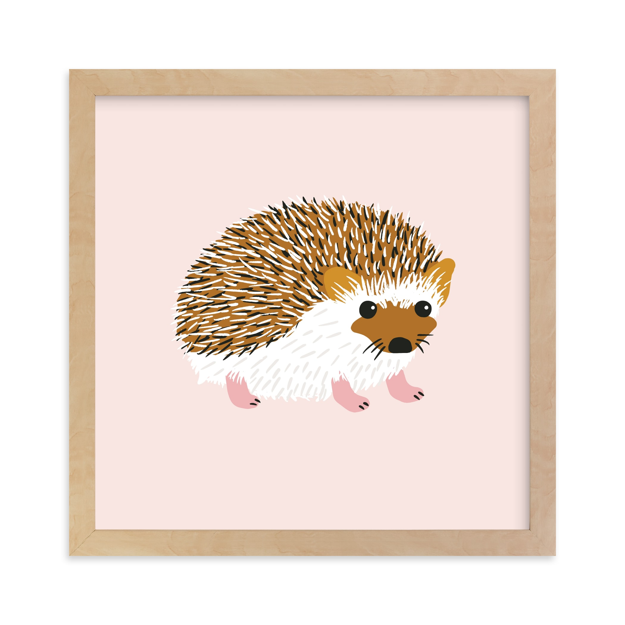 """""""Little Hedgehog"""" - Limited Edition Art Print by Genna Blackburn in beautiful frame options and a variety of sizes."""