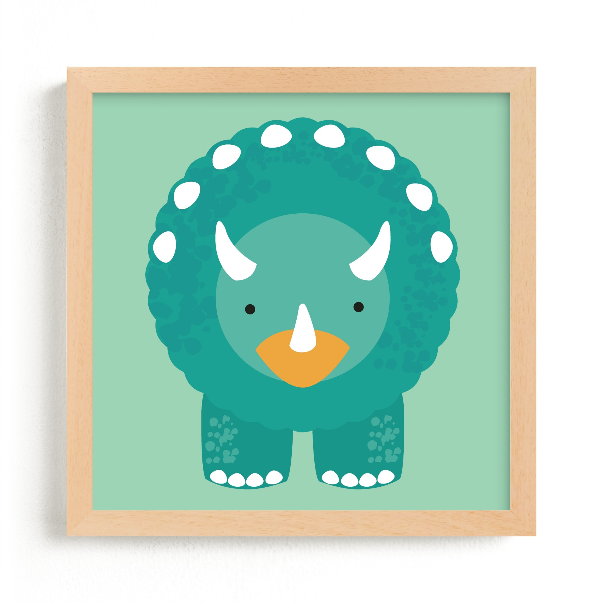 """""""Lil Dinosaur 1"""" - Limited Edition Art Print by Itsy Belle Studio in beautiful frame options and a variety of sizes."""