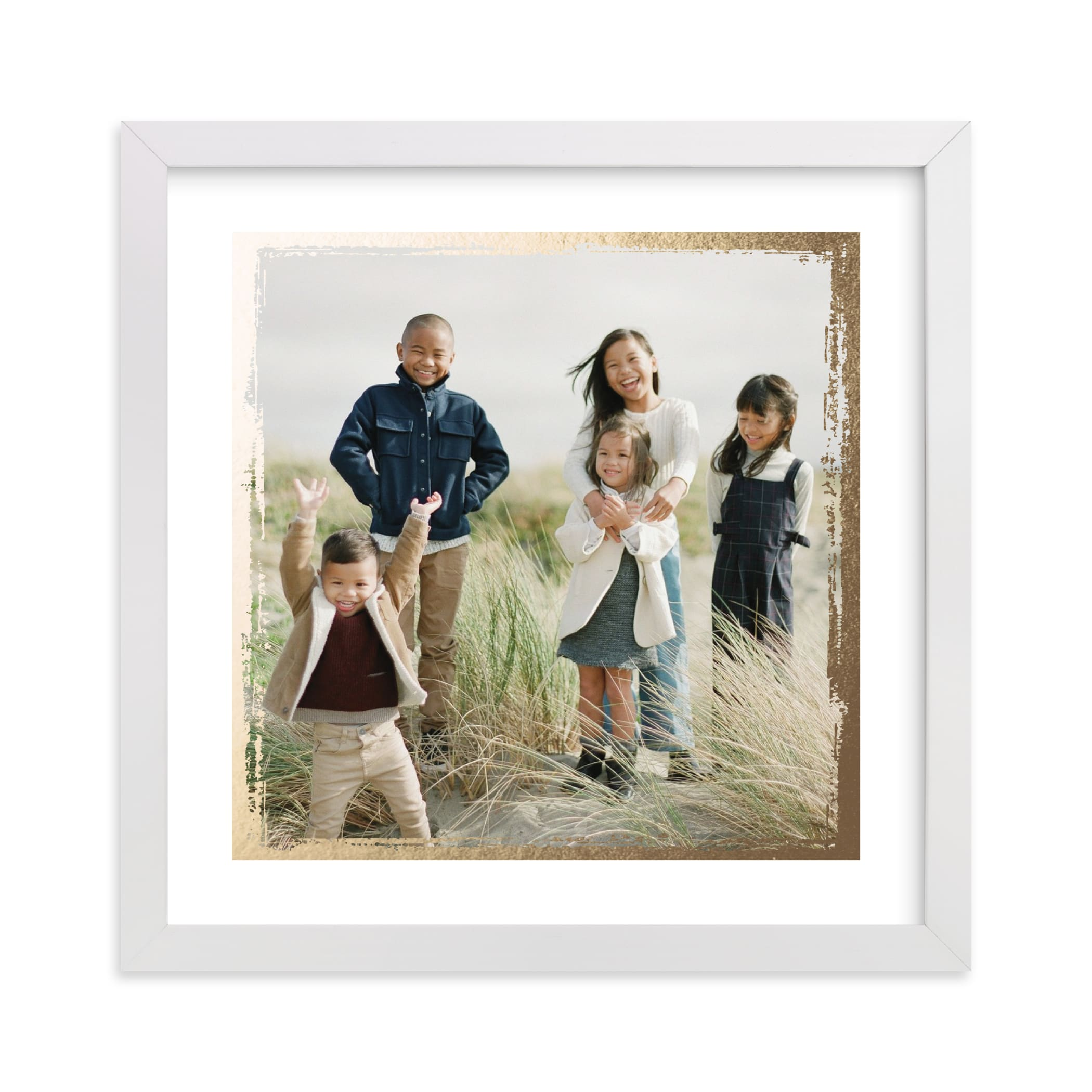 This is a gold foil stamped photo art by cambria called Rustic Edges.