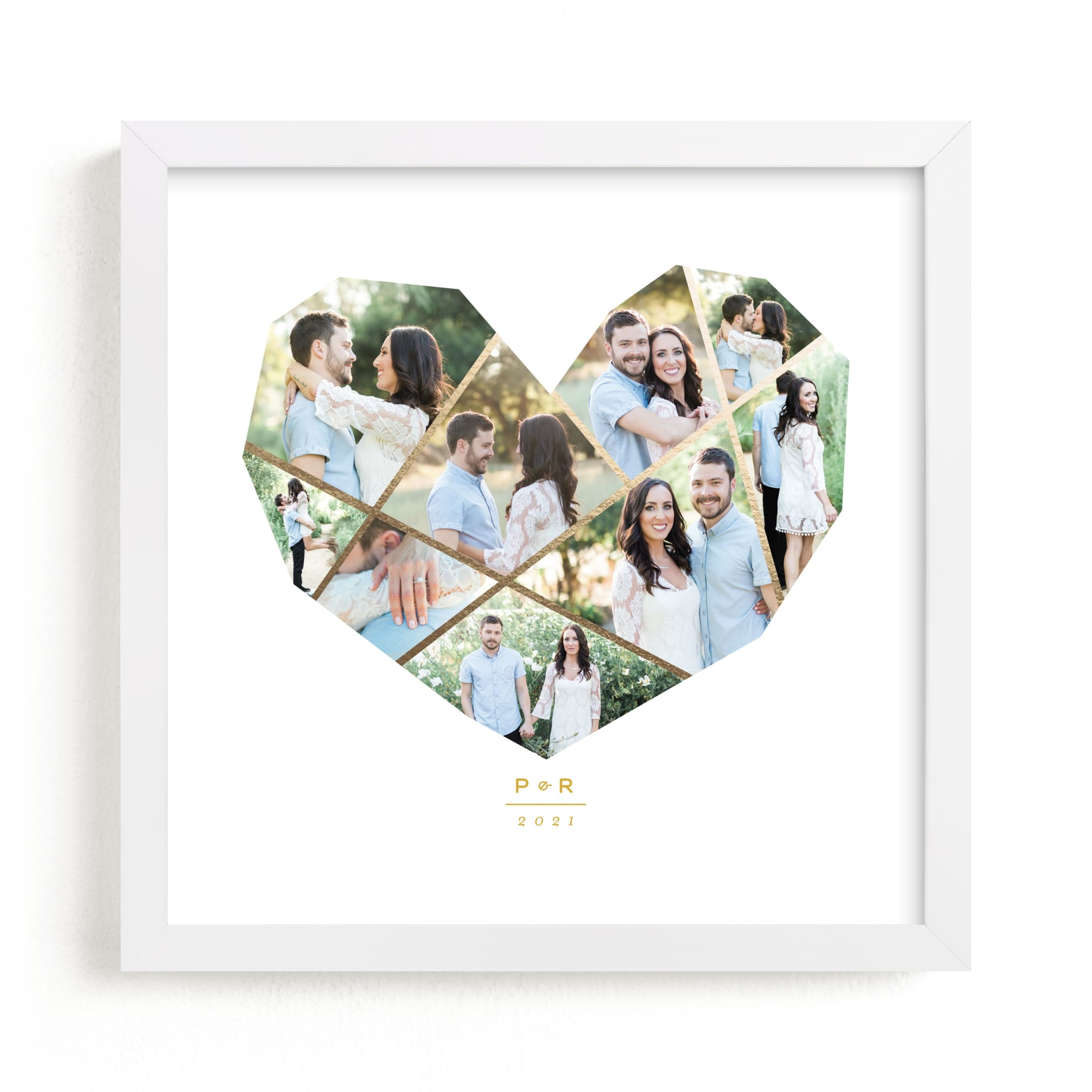 """""""Complete Love Foil"""" - Foil Pressed Photo Art Print by fatfatin in beautiful frame options and a variety of sizes."""