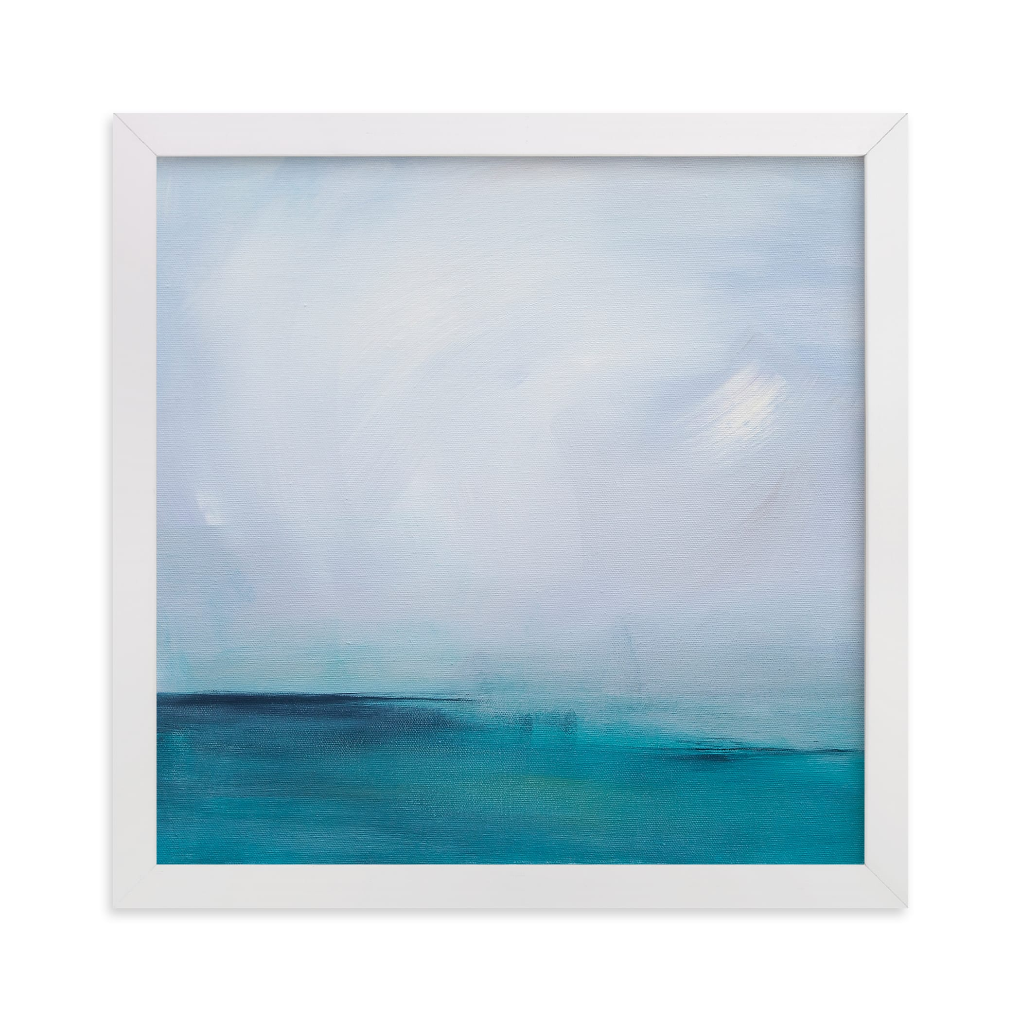 """""""Distant Island Pier"""" - Limited Edition Art Print by Julia Contacessi in beautiful frame options and a variety of sizes."""