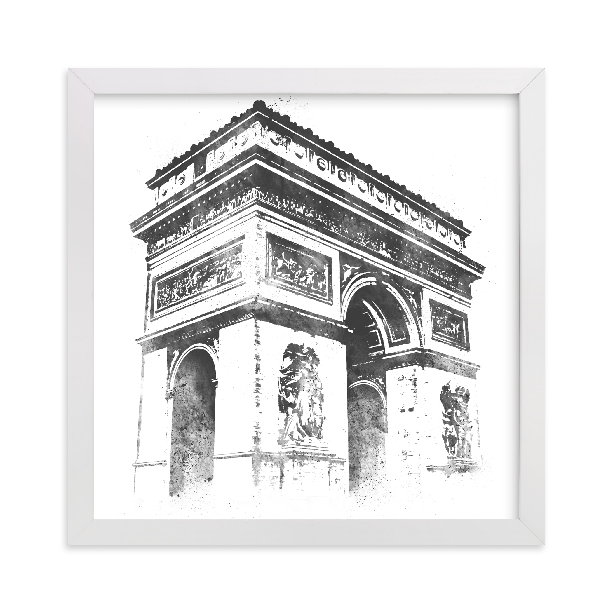 """Arc de Triomphe"" - Limited Edition Art Print by Paul Berthelot in beautiful frame options and a variety of sizes."