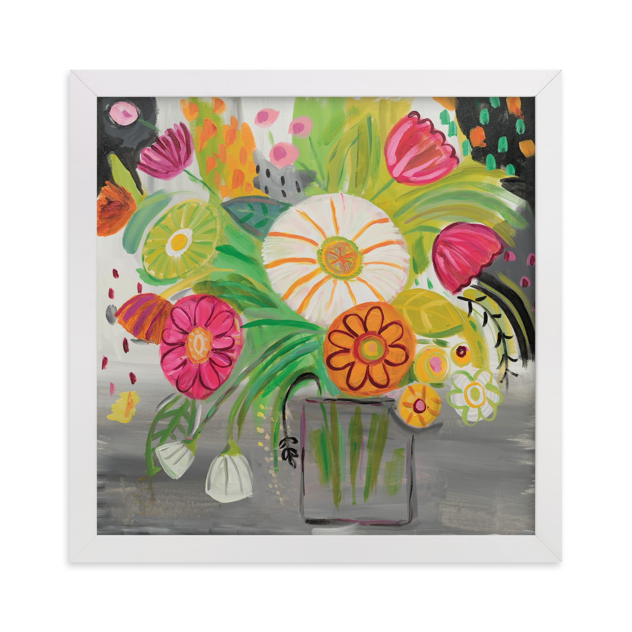 """""""Matisse Florals"""" - Limited Edition Art Print by FARIDA ZAMAN in beautiful frame options and a variety of sizes."""