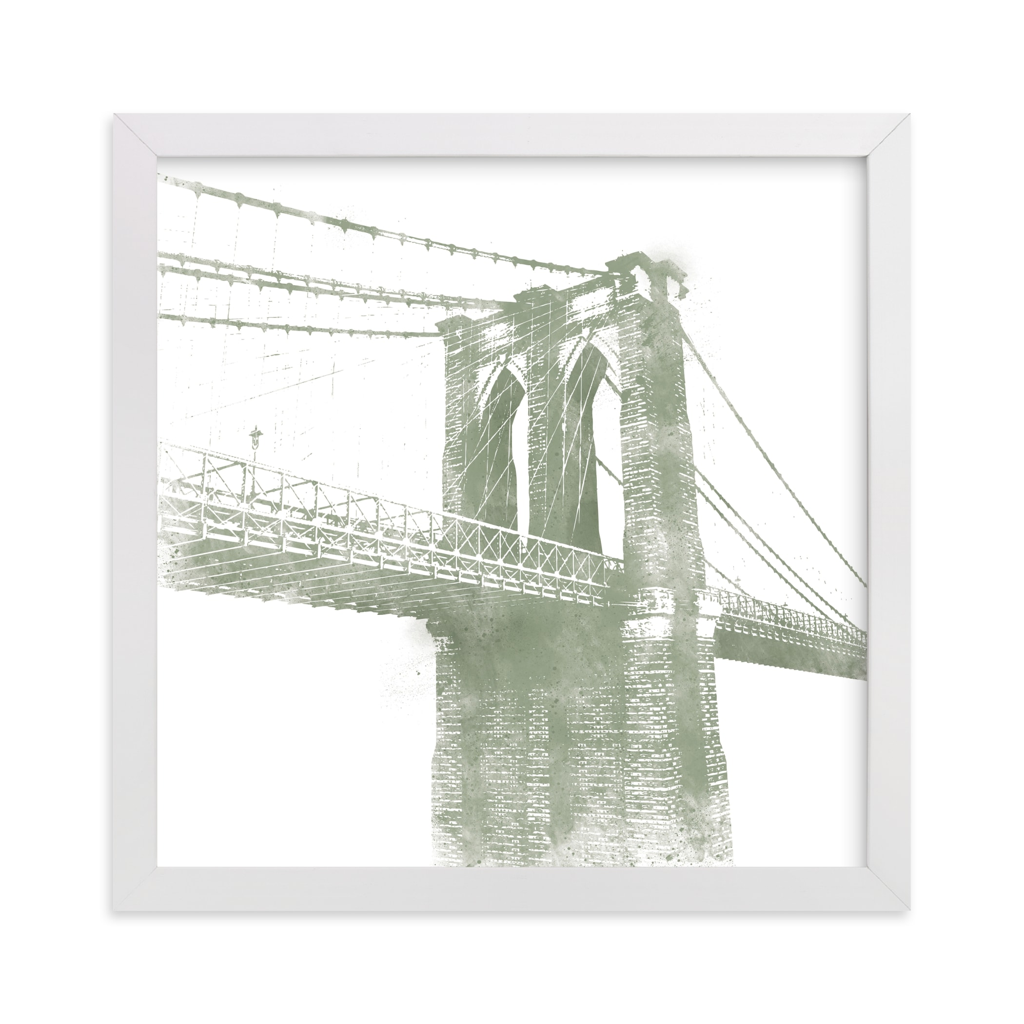 """Brooklyn Bridge"" - Limited Edition Art Print by Paul Berthelot in beautiful frame options and a variety of sizes."