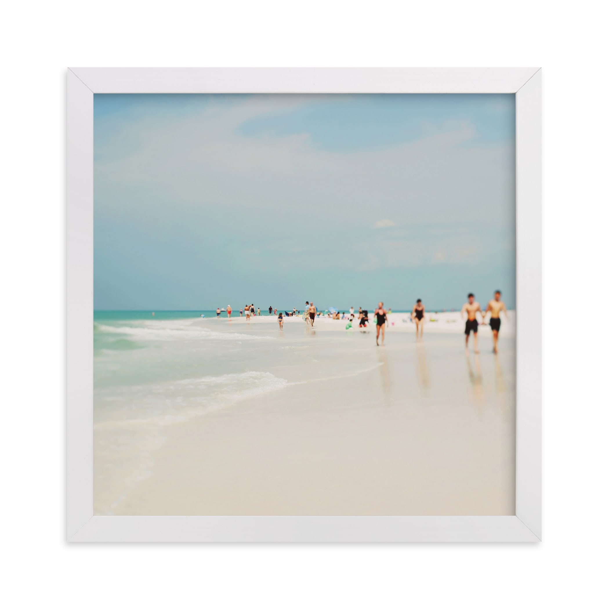 """""""White Sand"""" - Limited Edition Art Print by ALICIA BOCK in beautiful frame options and a variety of sizes."""