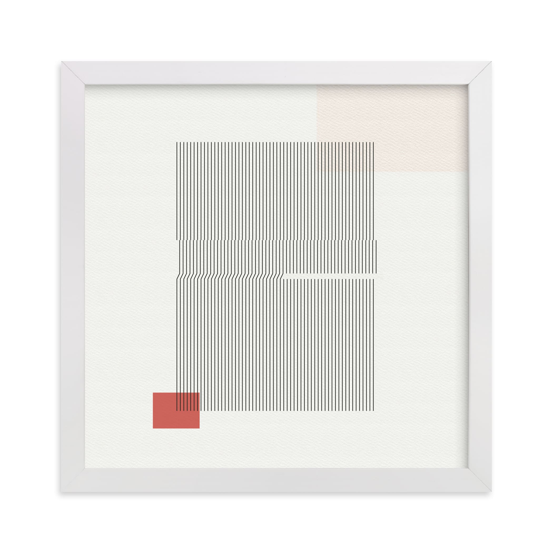 """""""Folded Lines"""" - Limited Edition Art Print by Jennifer Morehead in beautiful frame options and a variety of sizes."""