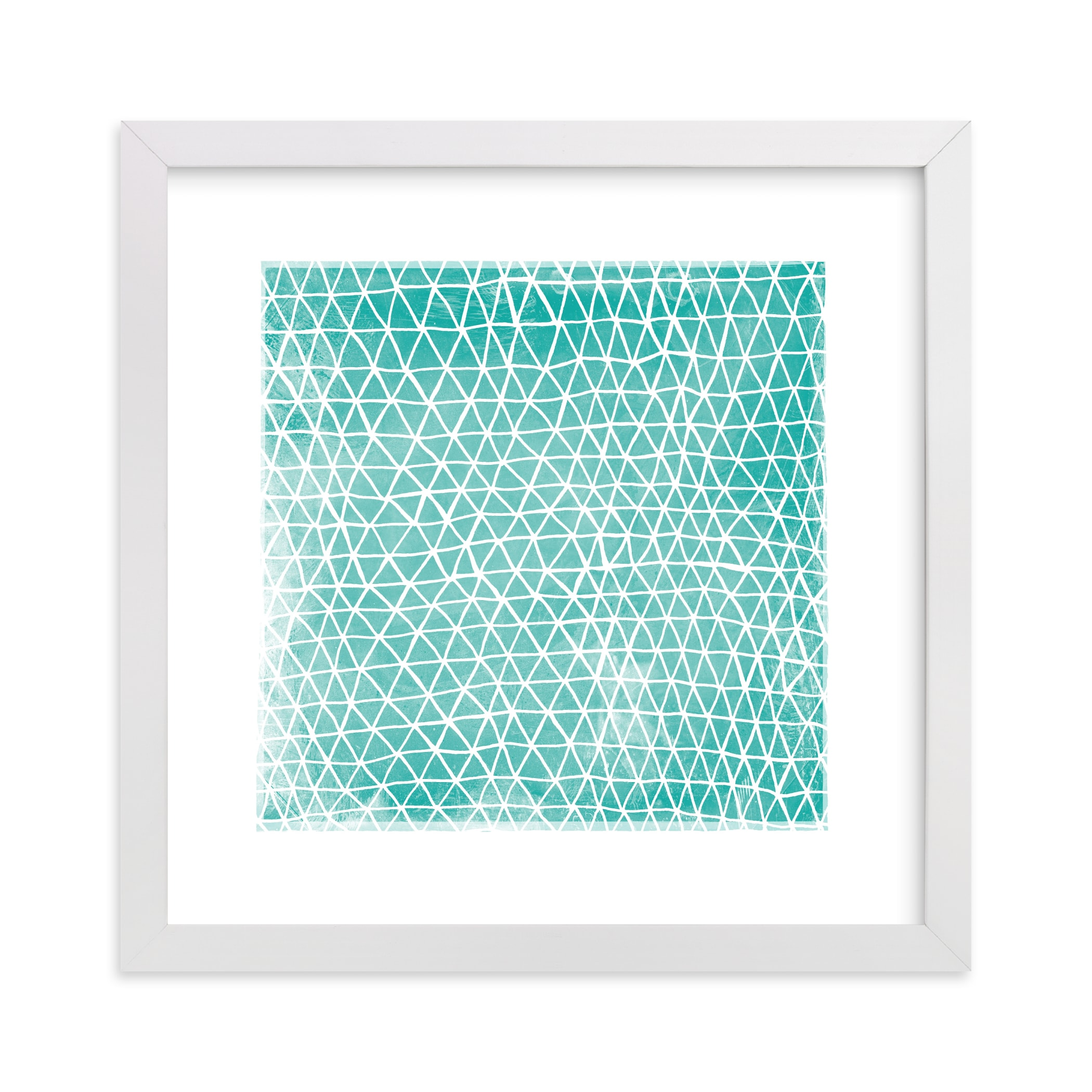 """Abstract Triangles"" - Limited Edition Art Print by Kerry Doyle - Paper Dahlia in beautiful frame options and a variety of sizes."