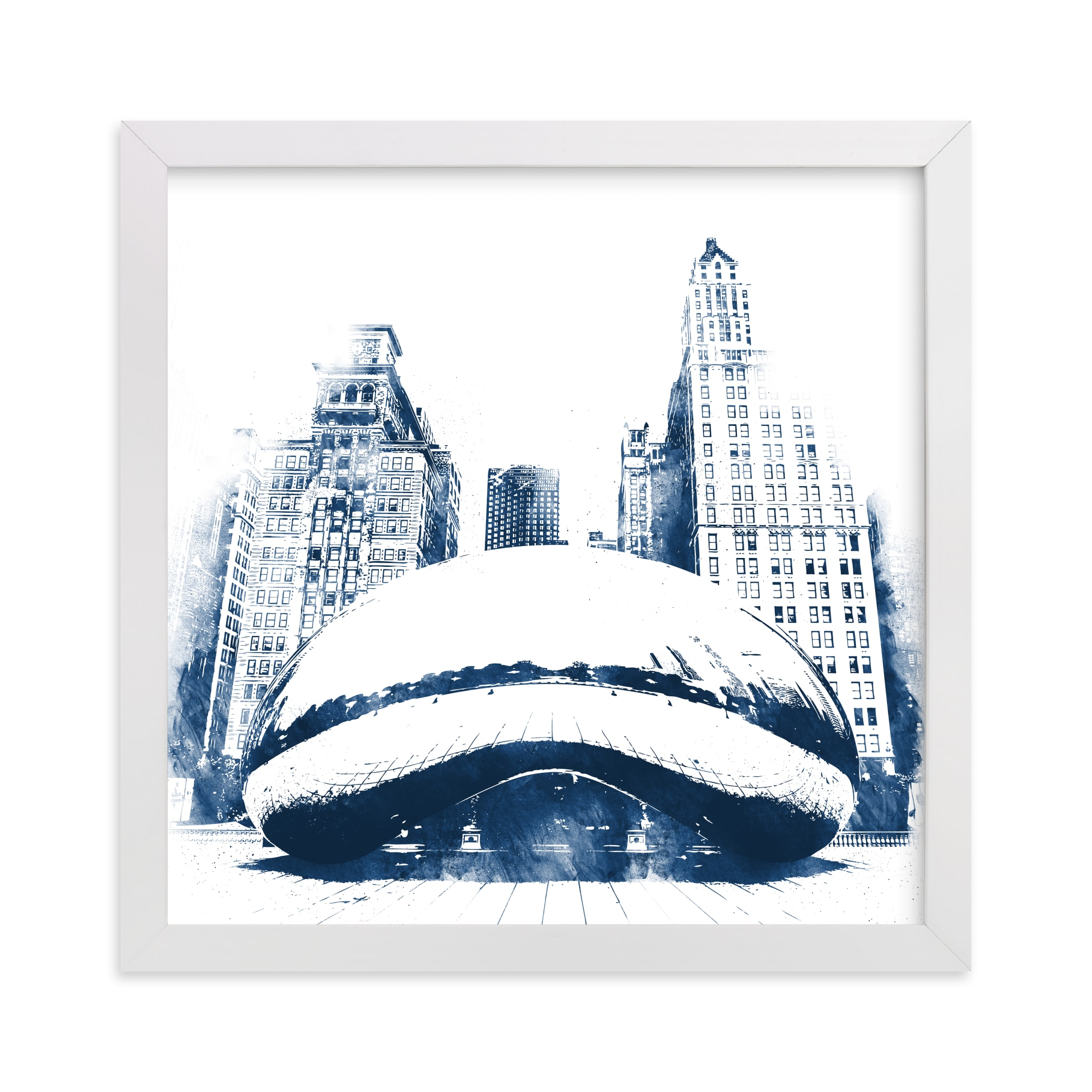 """""""Chicago Bean"""" - Limited Edition Art Print by Paul Berthelot in beautiful frame options and a variety of sizes."""